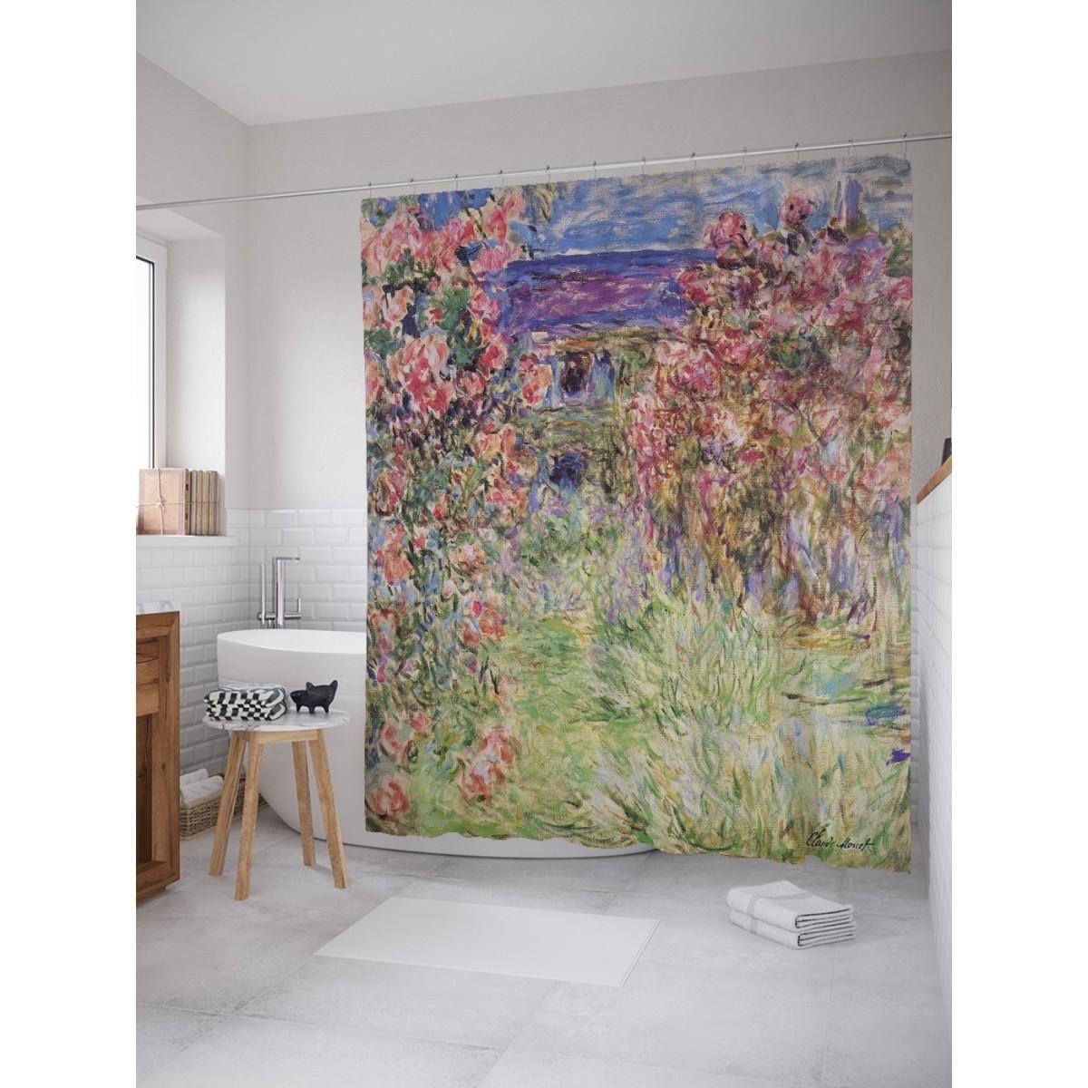 Шторка Для Ванной Цветочный Сад 180Х200 Sc_4891
