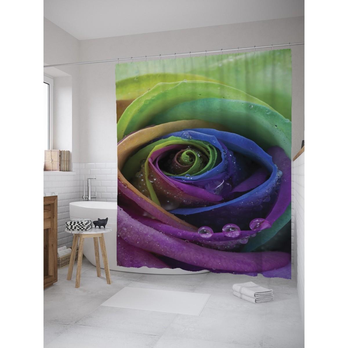 Шторка Для Ванной Цветочная Спираль 180Х200 Sc_8520