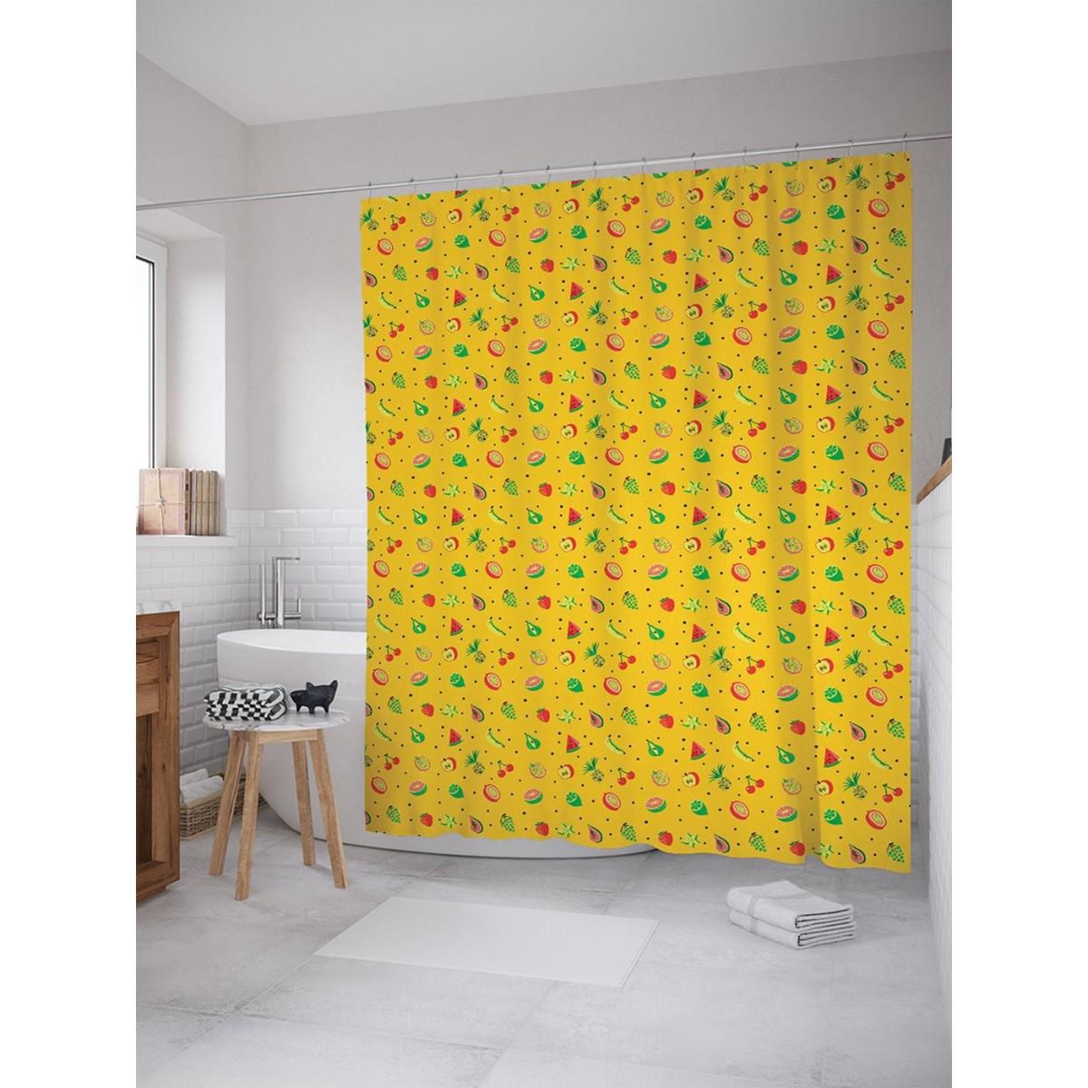 Шторка для ванной Маленькие фрукты 180х200 см sc_71724