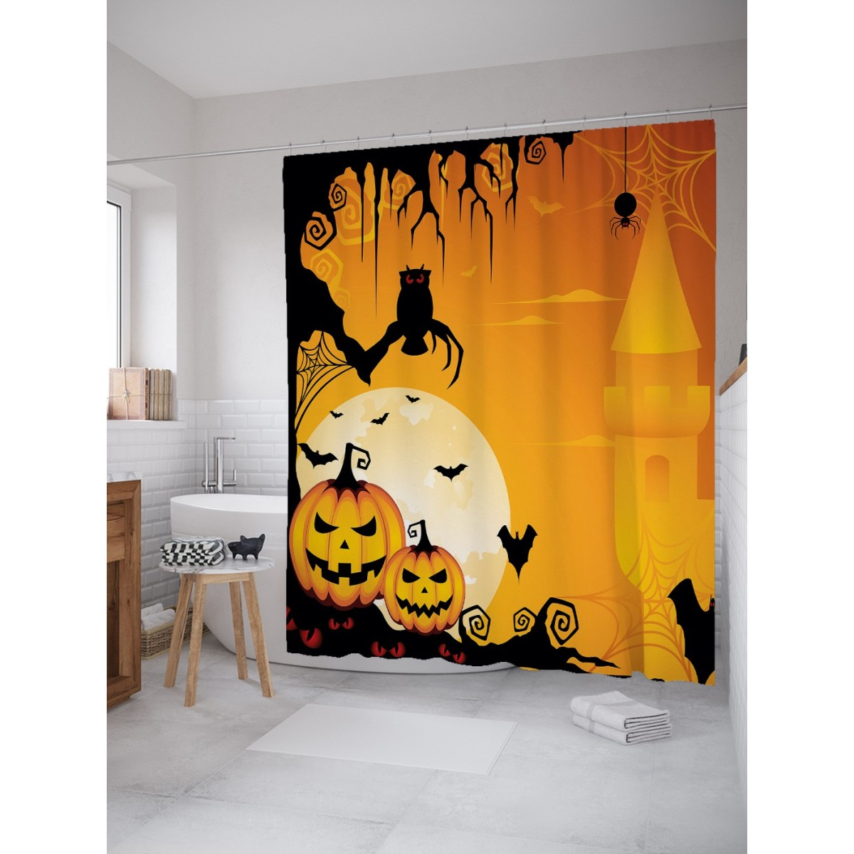 Шторка Для Ванной Хэллоуинский Вечер 180Х200 Sc_18927