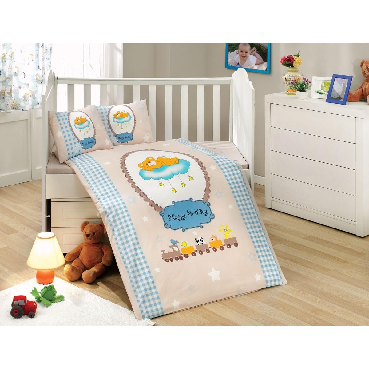Комплект Постельного Белья В Кроватку Hobby Home Collection Bambam 1501001251 Поплин