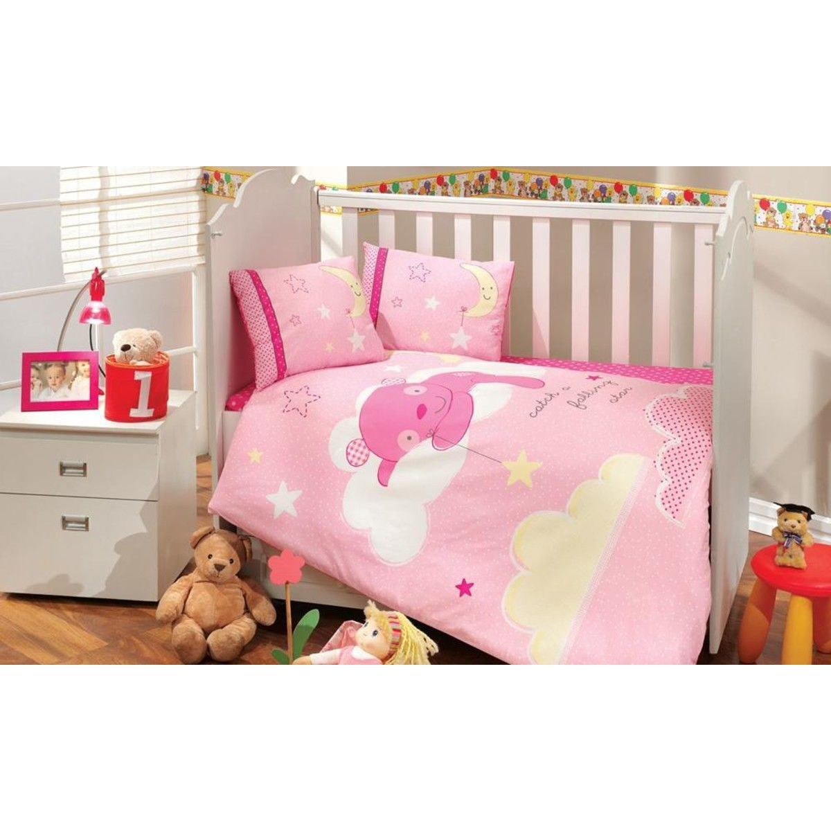 Комплект Постельного Белья В Кроватку Hobby Home Collection Sleeper 1501000951 Поплин