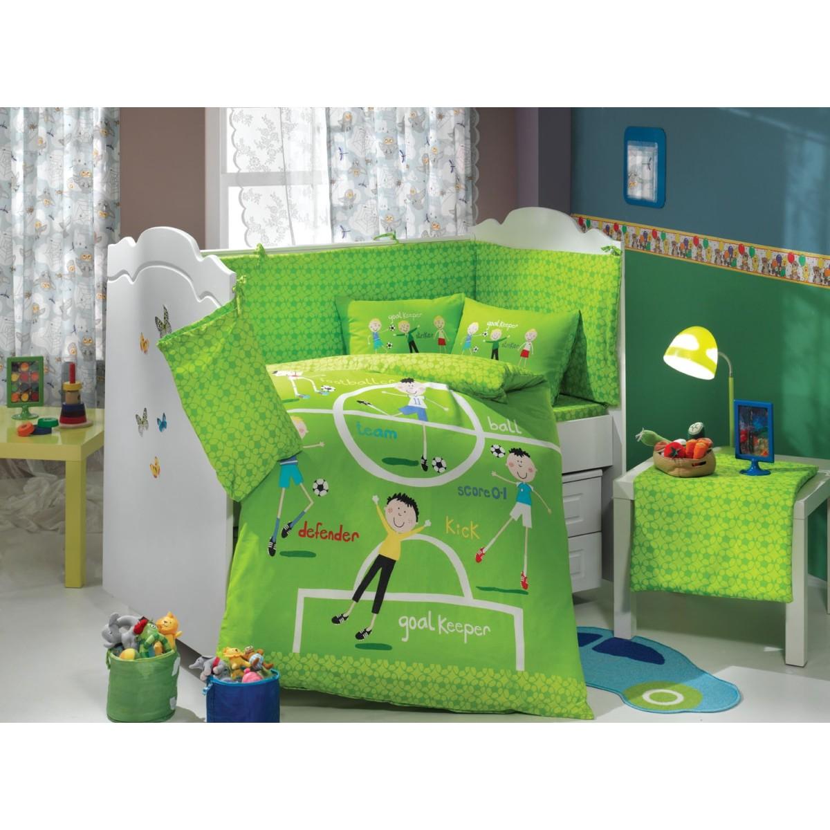 Комплект Постельного Белья В Кроватку Hobby Home Collection Soccer 1501001785 Поплин