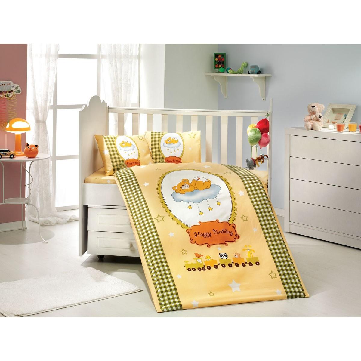 Комплект Постельного Белья В Кроватку Hobby Home Collection Bambam 1501000334 Поплин