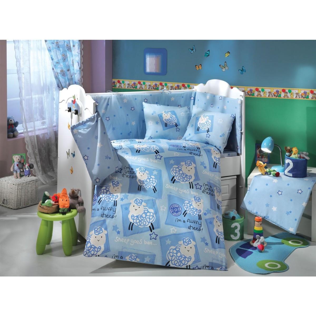 Комплект Постельного Белья В Кроватку Hobby Home Collection Little Sheep 1501000336 Поплин