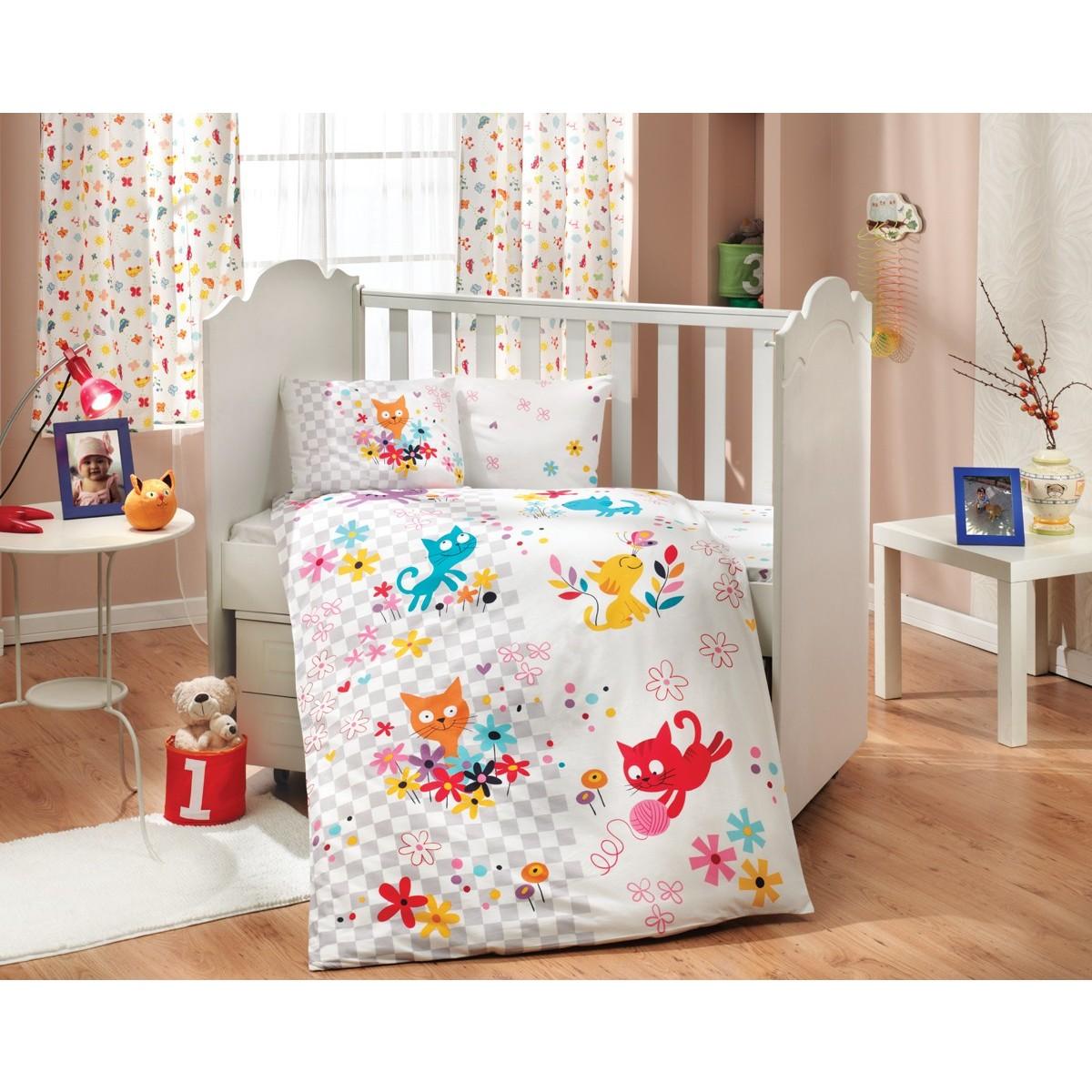 Комплект Постельного Белья В Кроватку Hobby Home Collection Mirmir 1607000165 Поплин