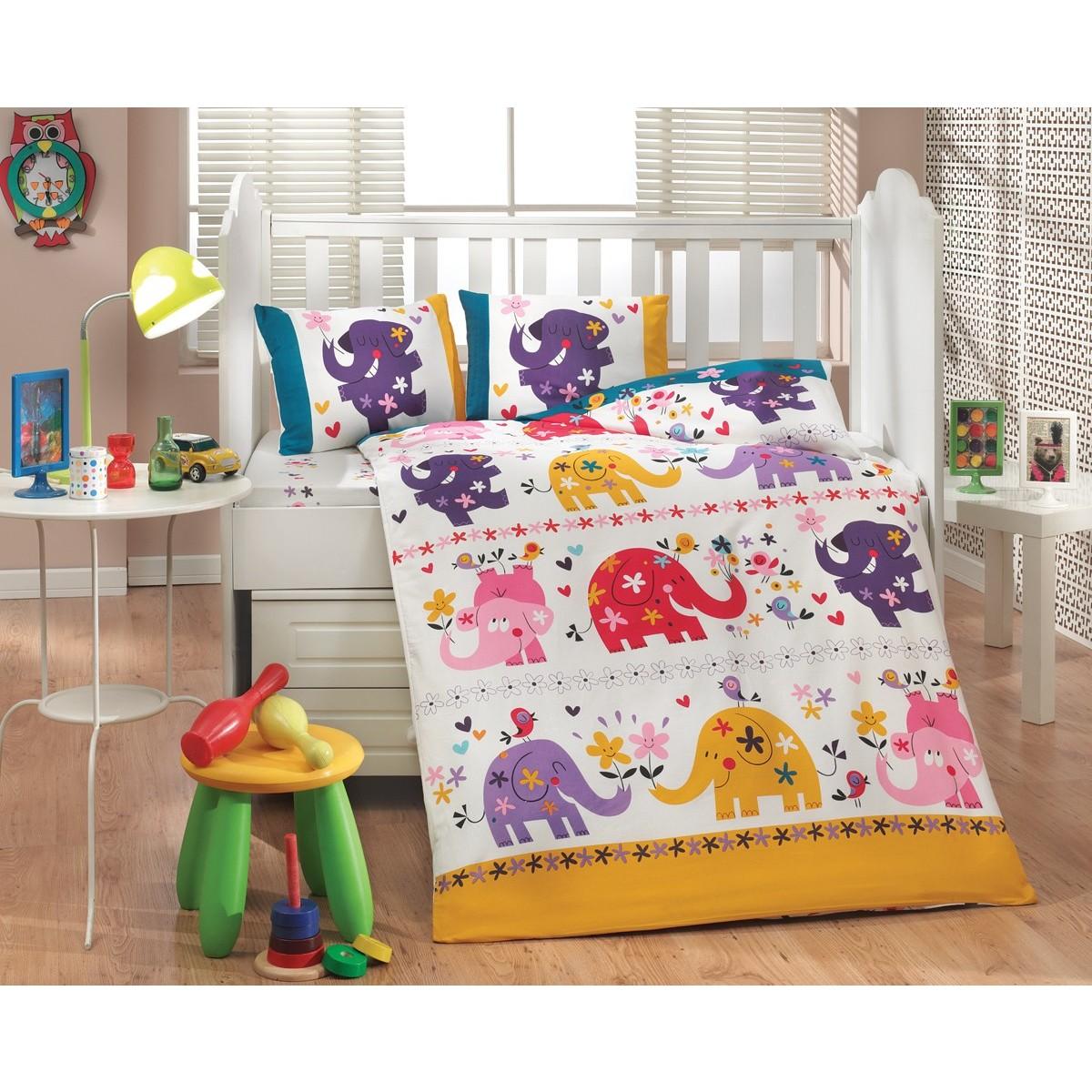 Комплект Постельного Белья В Кроватку Hobby Home Collection Oscar 1607000166 Поплин