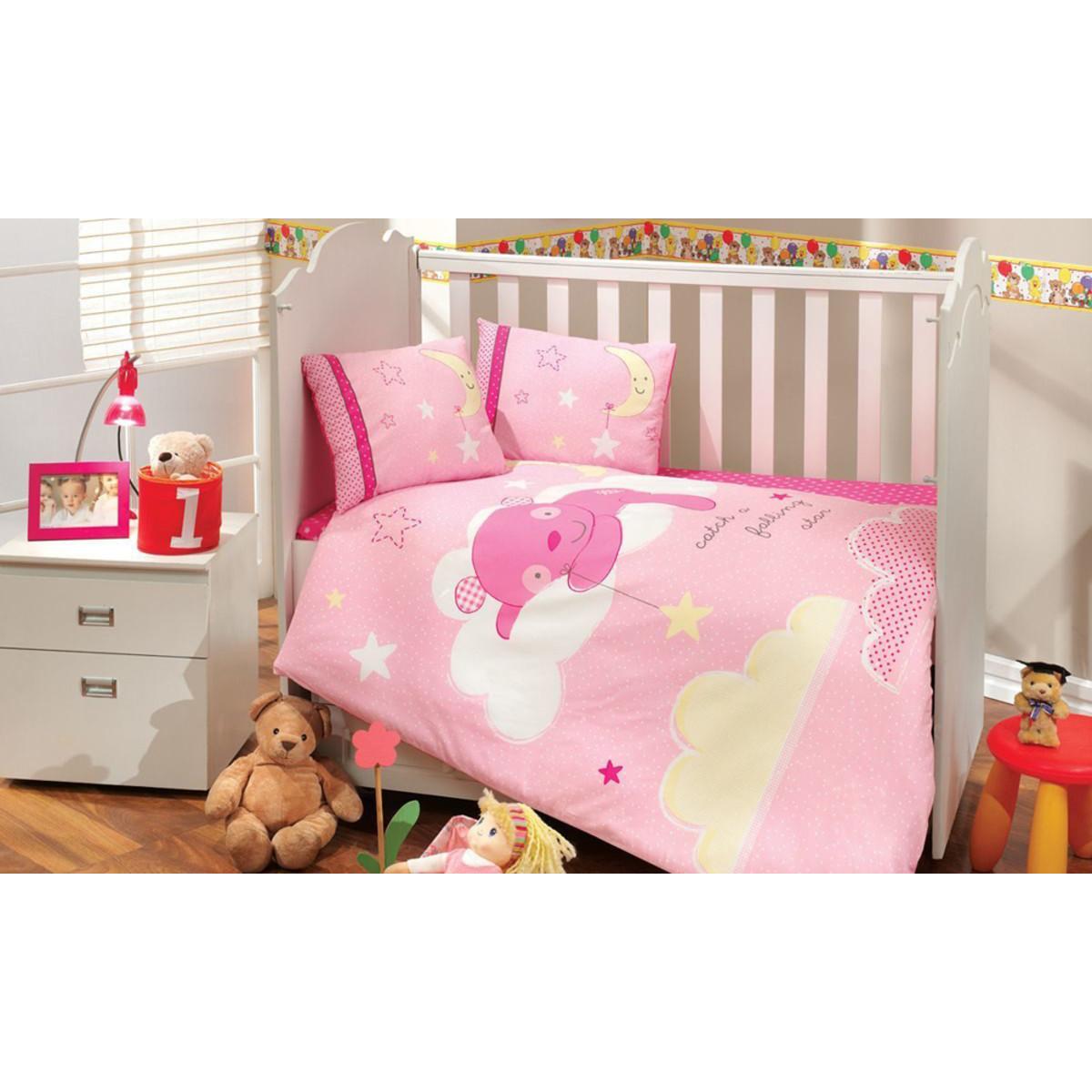 Комплект Постельного Белья В Кроватку Hobby Home Collection Sleeper 1501001778 Поплин