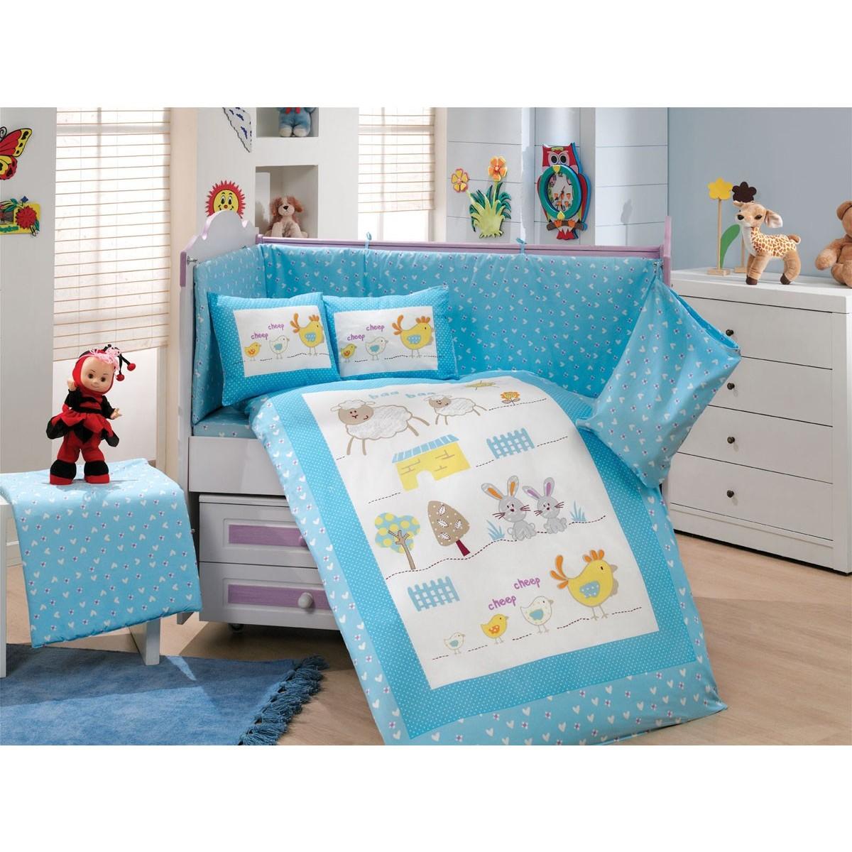 Комплект Постельного Белья В Кроватку Hobby Home Collection Zoo 1607001260 Поплин