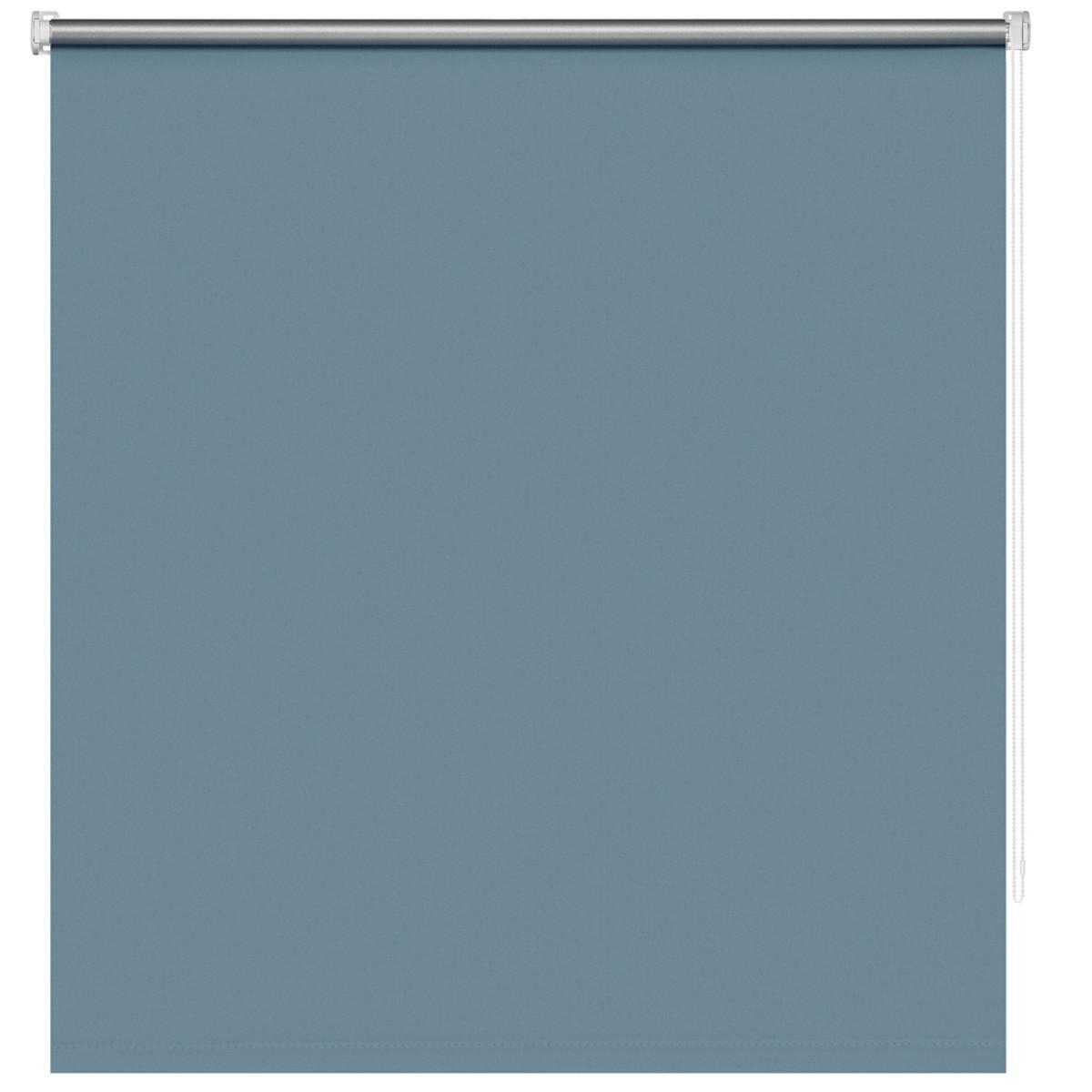 Рулонная штора Decofest Блэкаут Плайн 90х160 см цвет бирюзовый