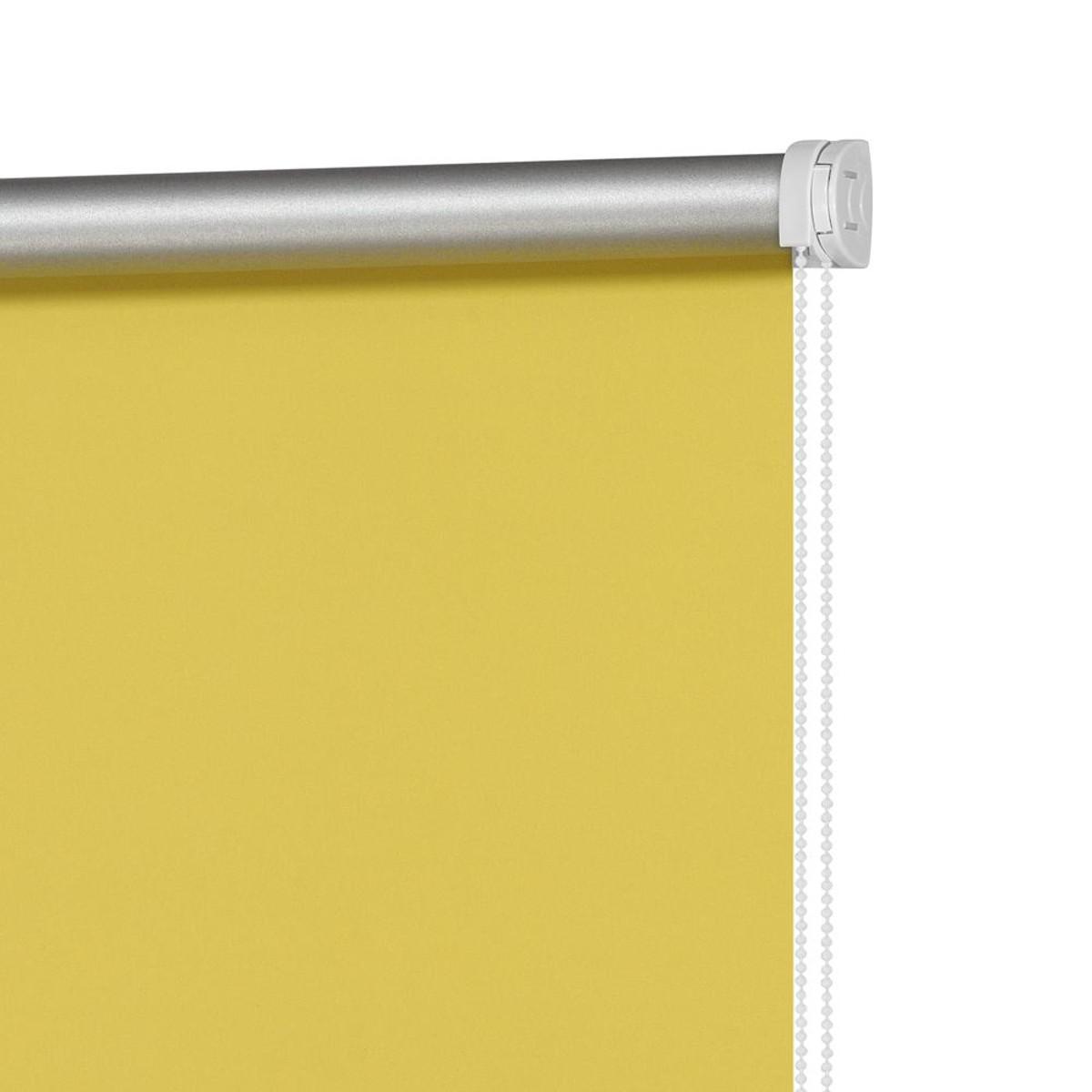 Рулонная Ора Decofest Блэкаут Плайн 80Х160 Цвет Желтый