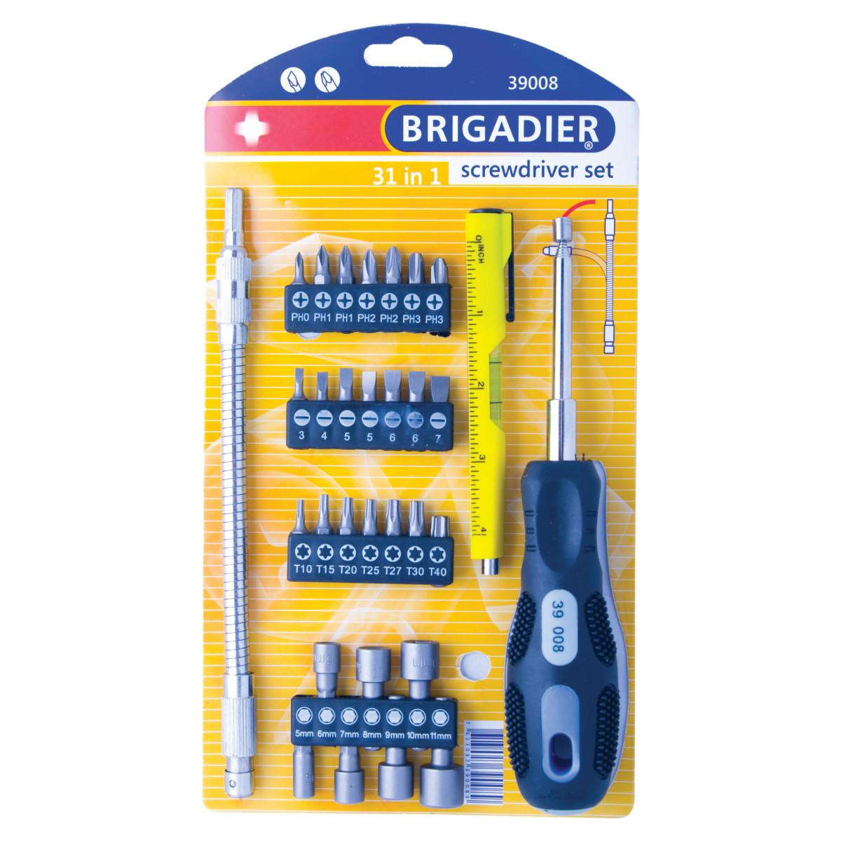 Набор отверток BRIGADIER 39008 31 предмет