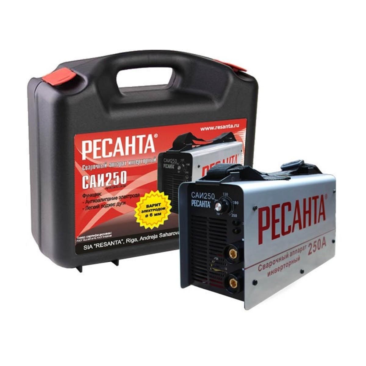 Дуговой Сварочный Инвертор Ресанта Саи-250 В Кейсе 00-00000711