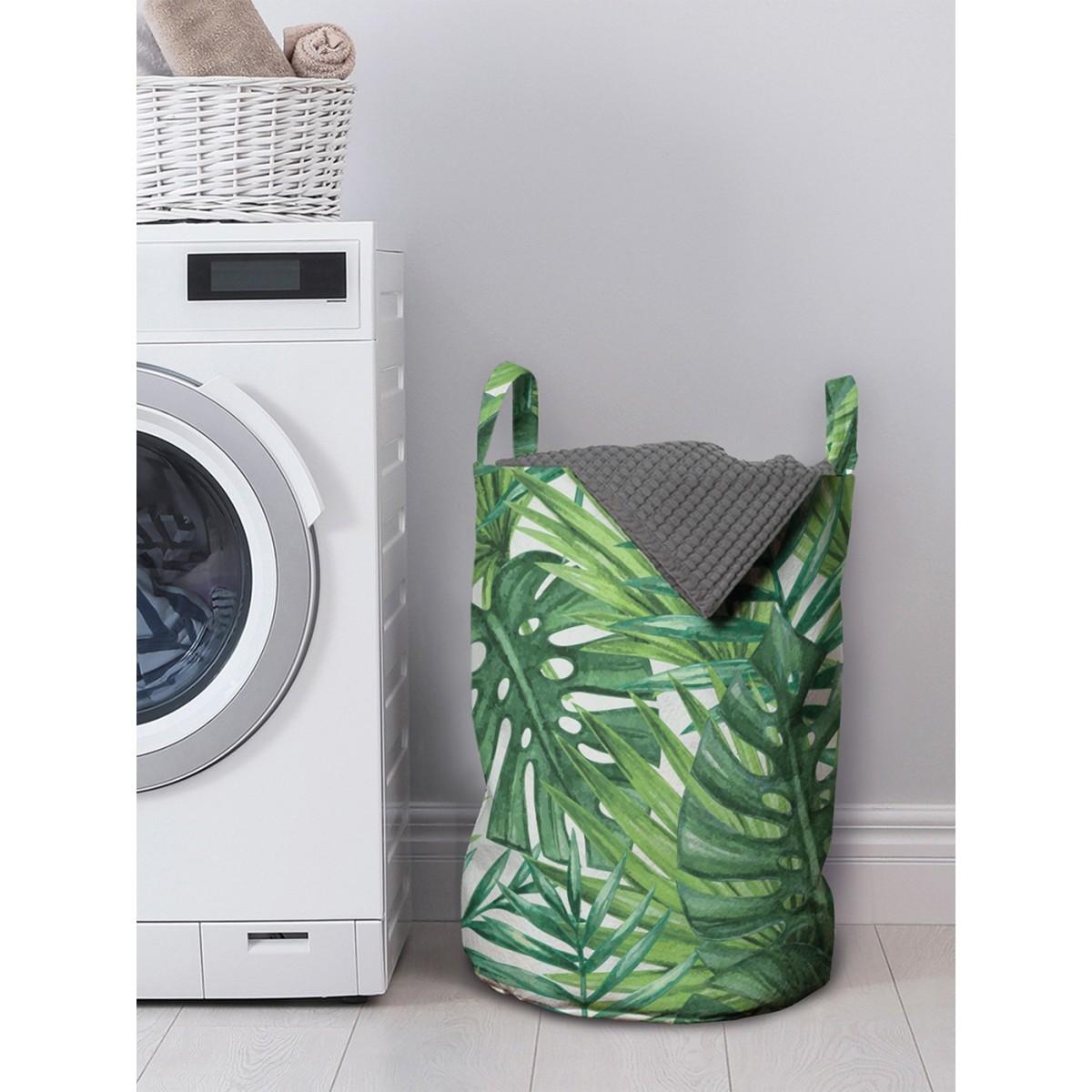 Корзина для хранения вещей Тропические листья 35x50 см