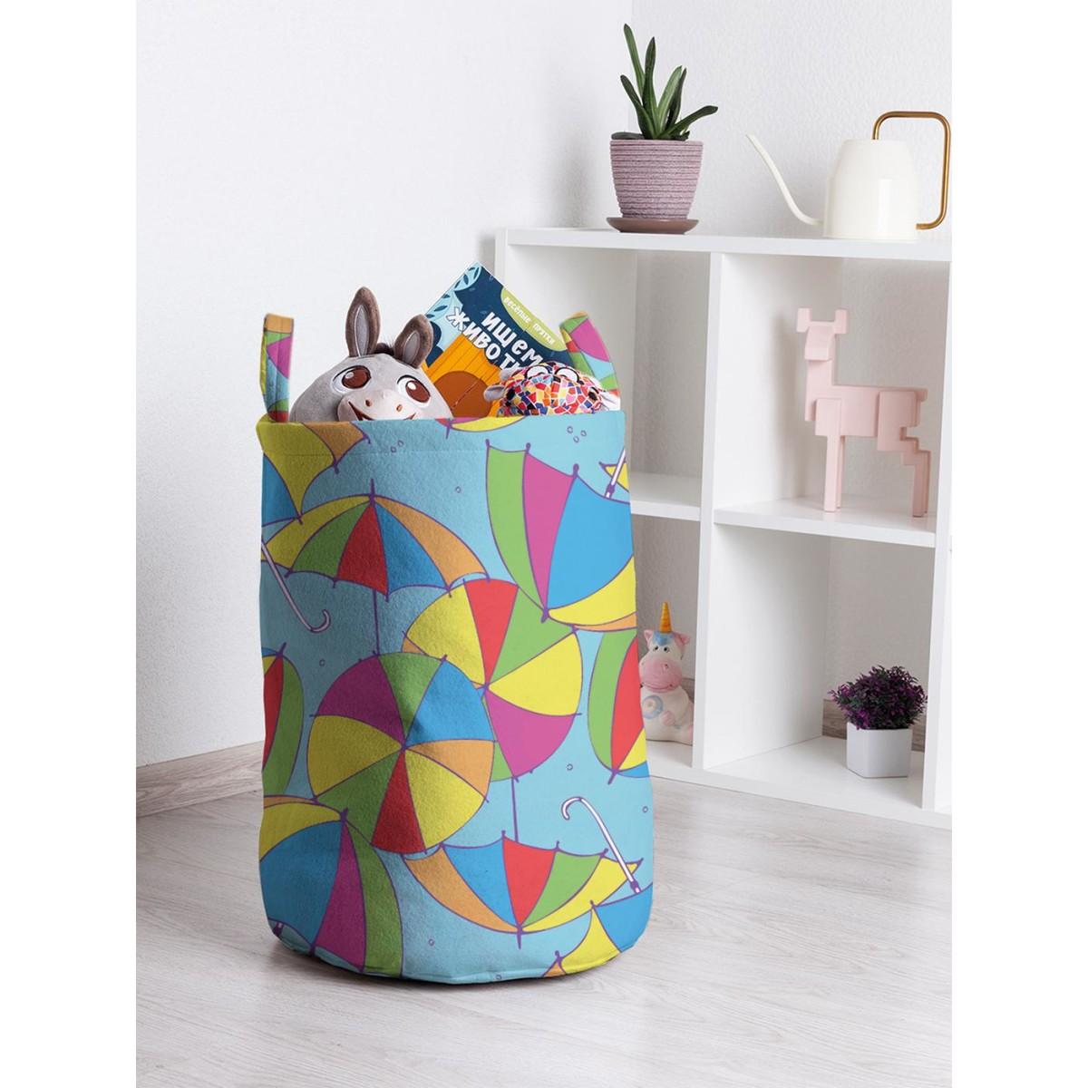 Корзина для хранения JoyArty Радуга на зонтах toba_21356 35х50 см