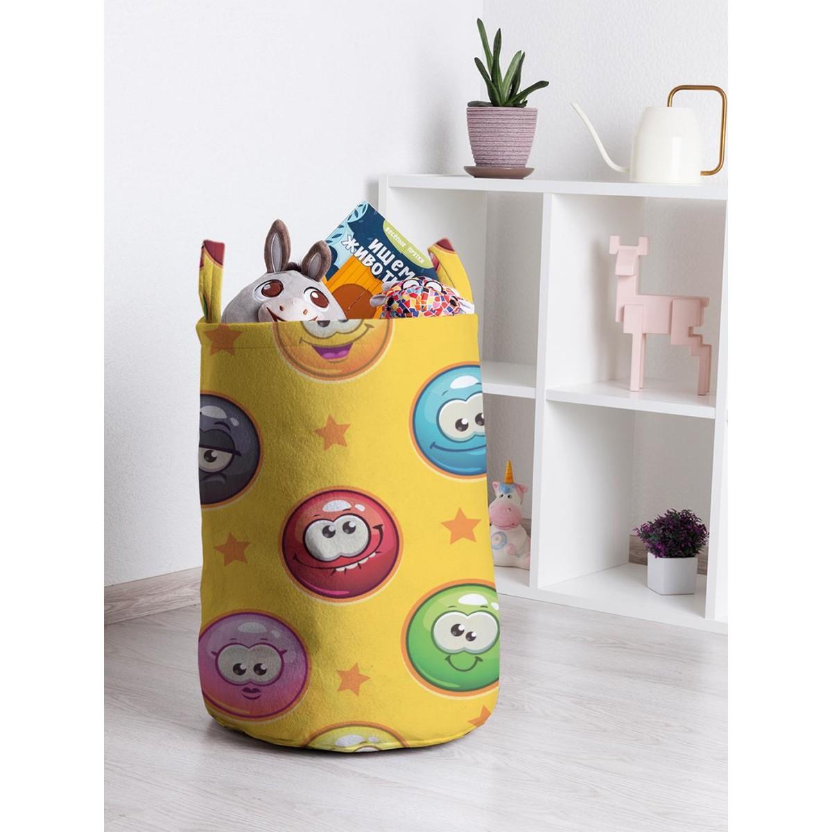 Корзина для хранения JoyArty Эмоциональные шарики toba_22935 35х50 см