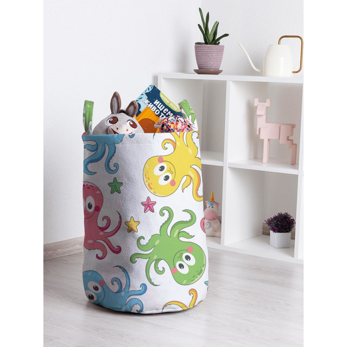 Корзина для хранения JoyArty Цветные осьминожки toba_47940 35х50 см