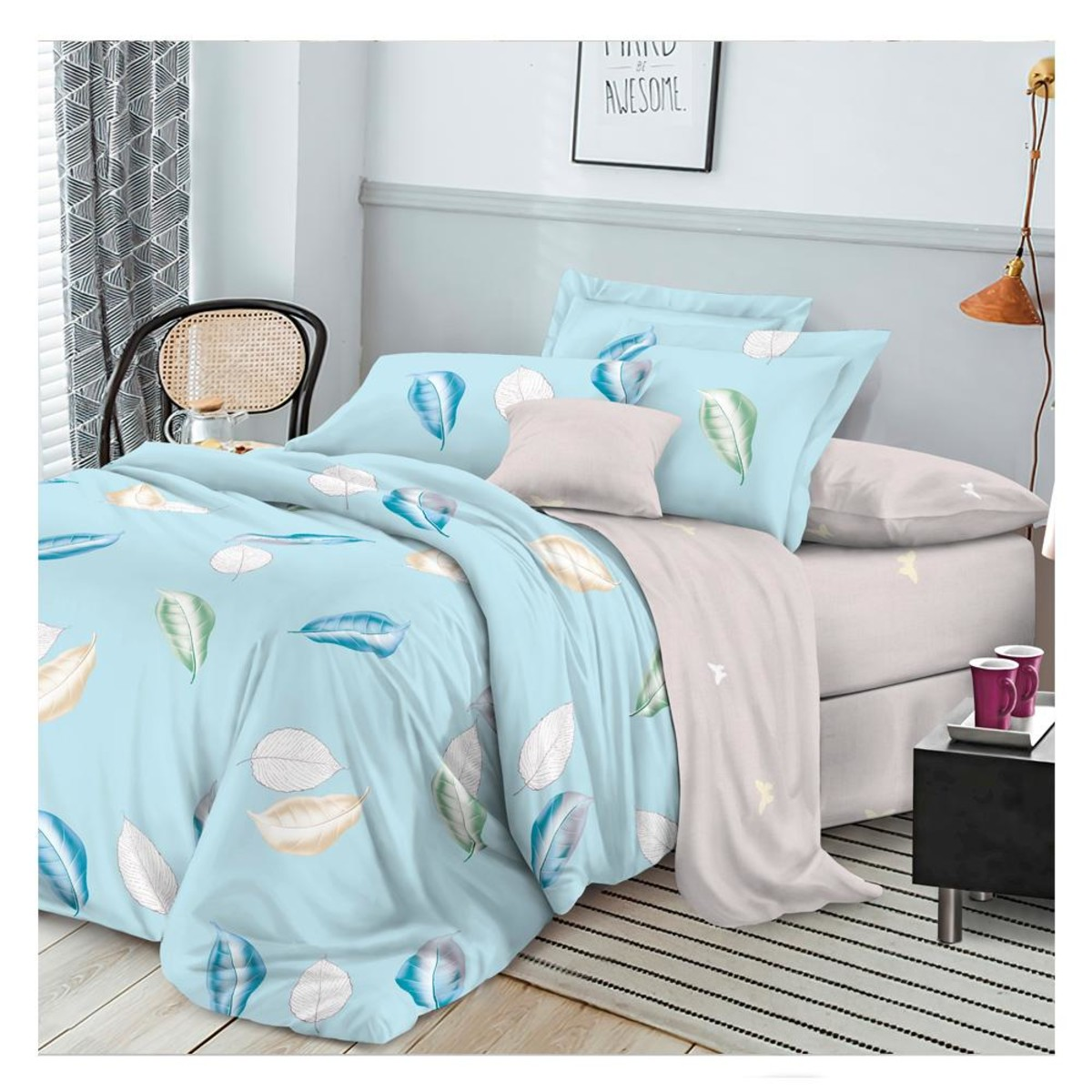 Комплект постельного белья евро Протекс Органик 27359 сатин