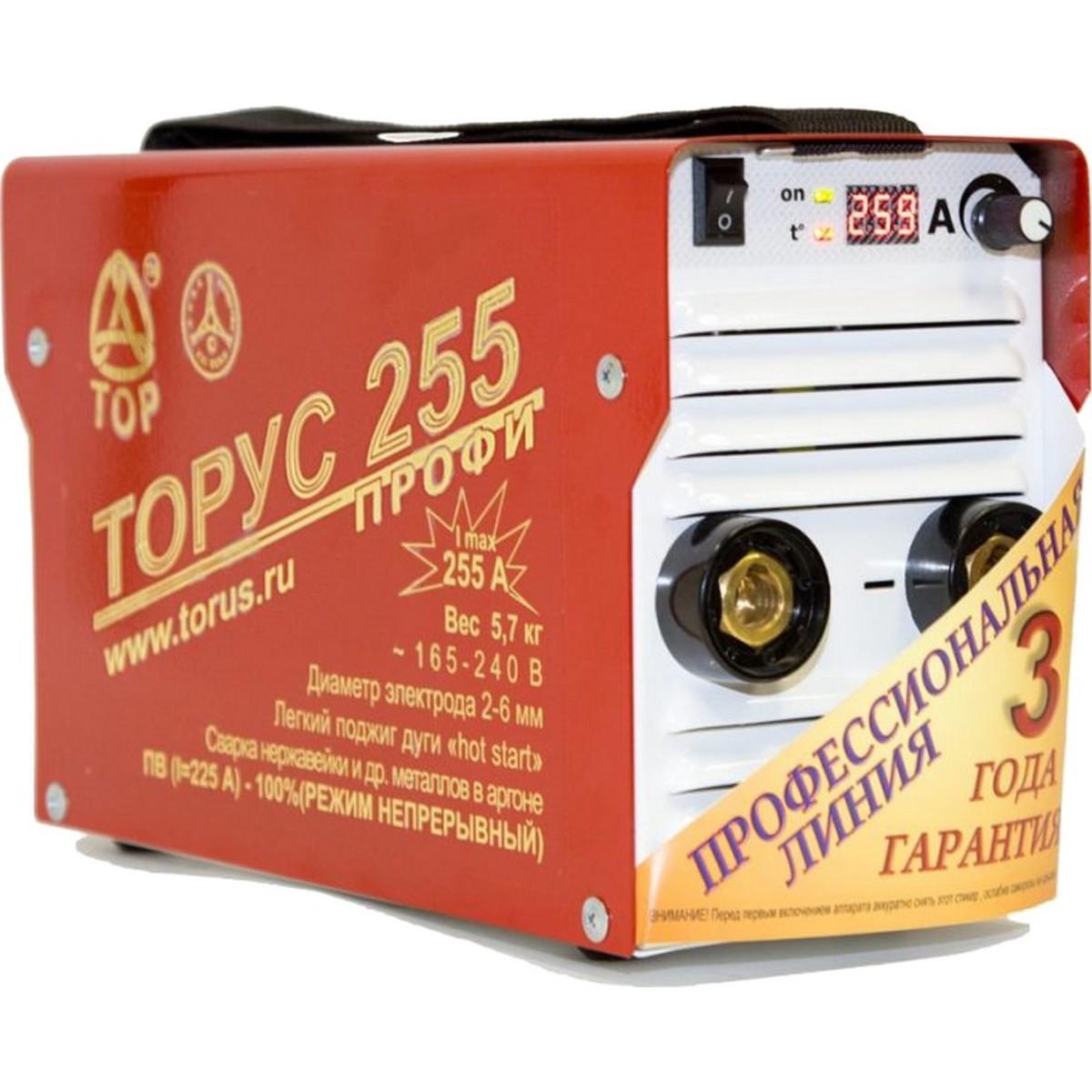 Дуговой сварочный инвертор ТОРУС 255 + комплект проводов 95566023