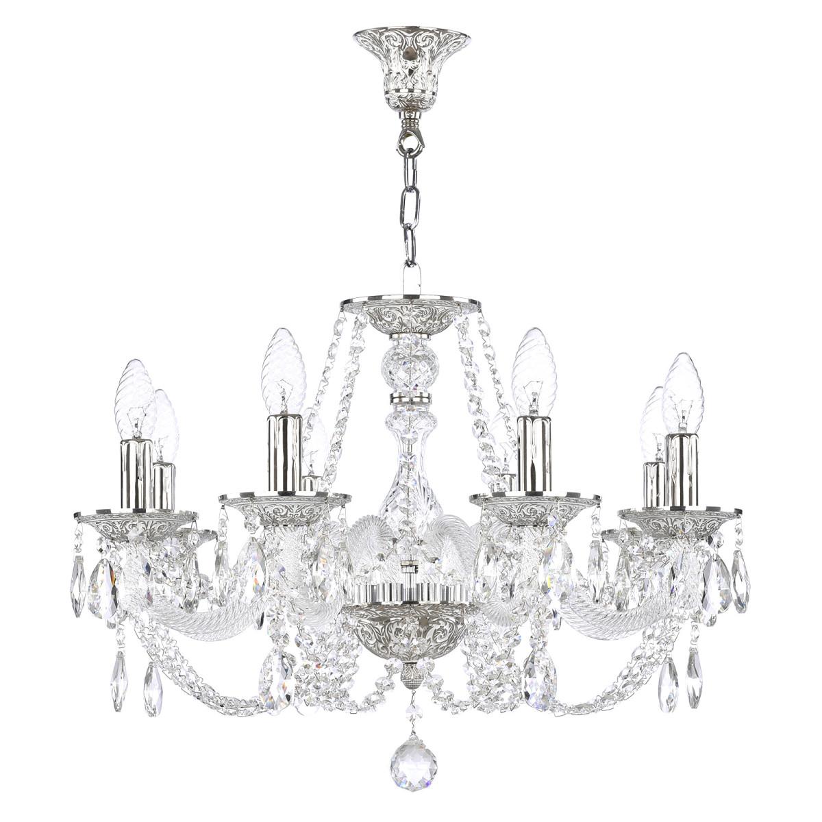 Люстра Bohemia Ivele Crystal 1602 1601.8.195.Ni E14 8 ламп 16 м²
