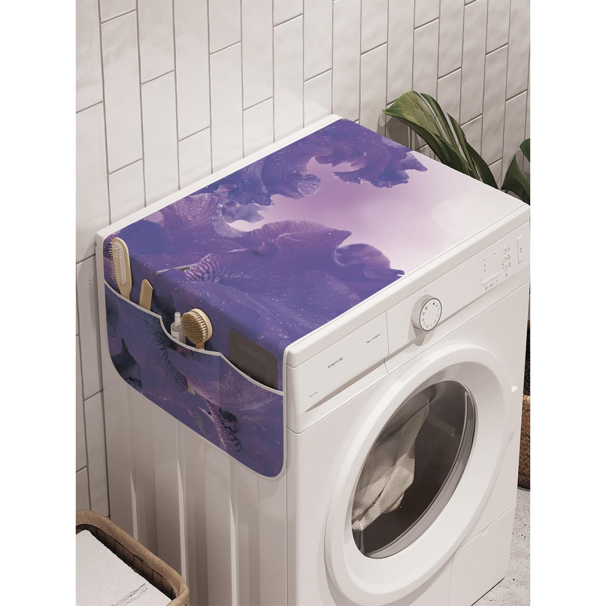 Органайзер на стиральную машину Ambesonne Цветочный океан cwm_16265 45х120 см