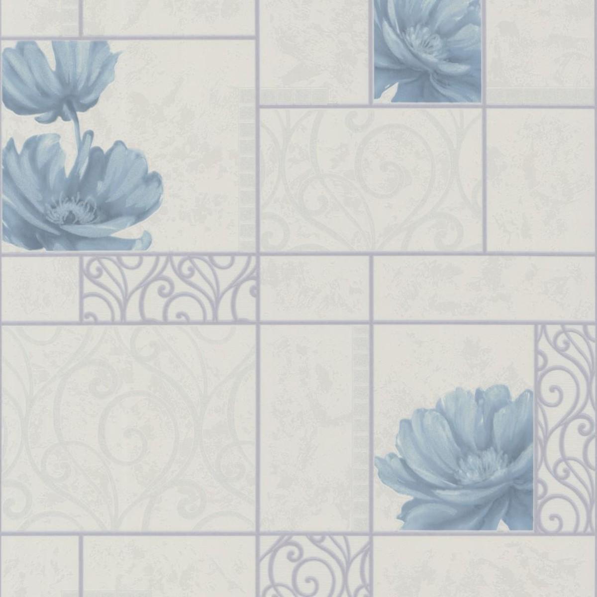 Обои виниловые Home Color Marmi синие HC11018-16 0.53 м