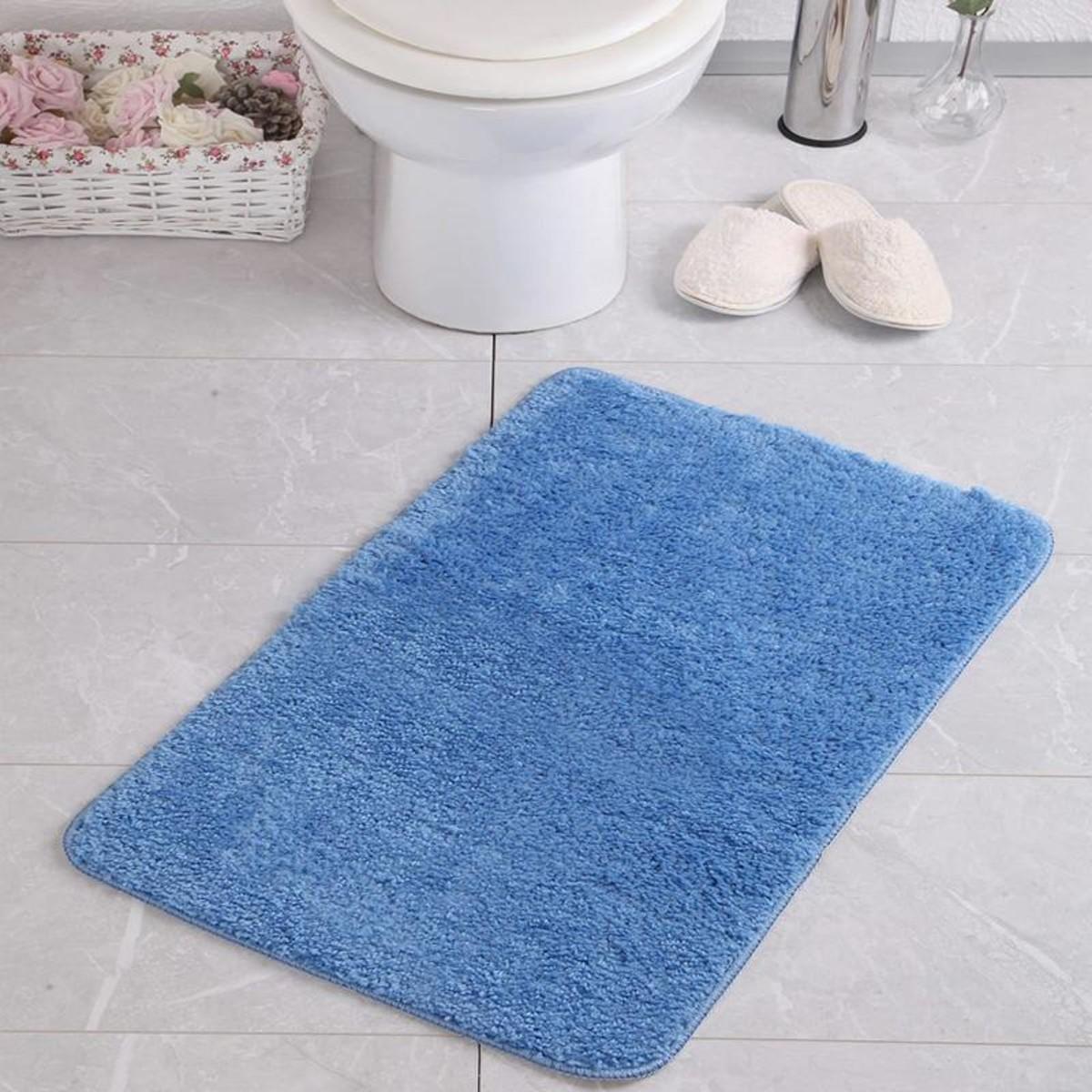 Коврик для ванной Aqua-Prime Be&#39Maks 60Х100см 509 18мм (Голубой) 1/20