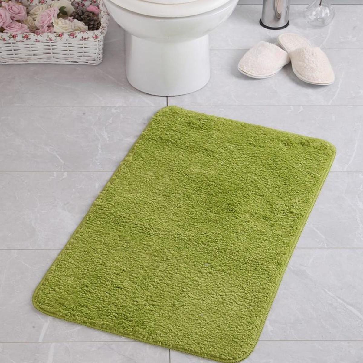 Коврик для ванной Aqua-Prime Be&#39Maks 60Х100см 588 18мм (Ярко-Зеленый) 1/20