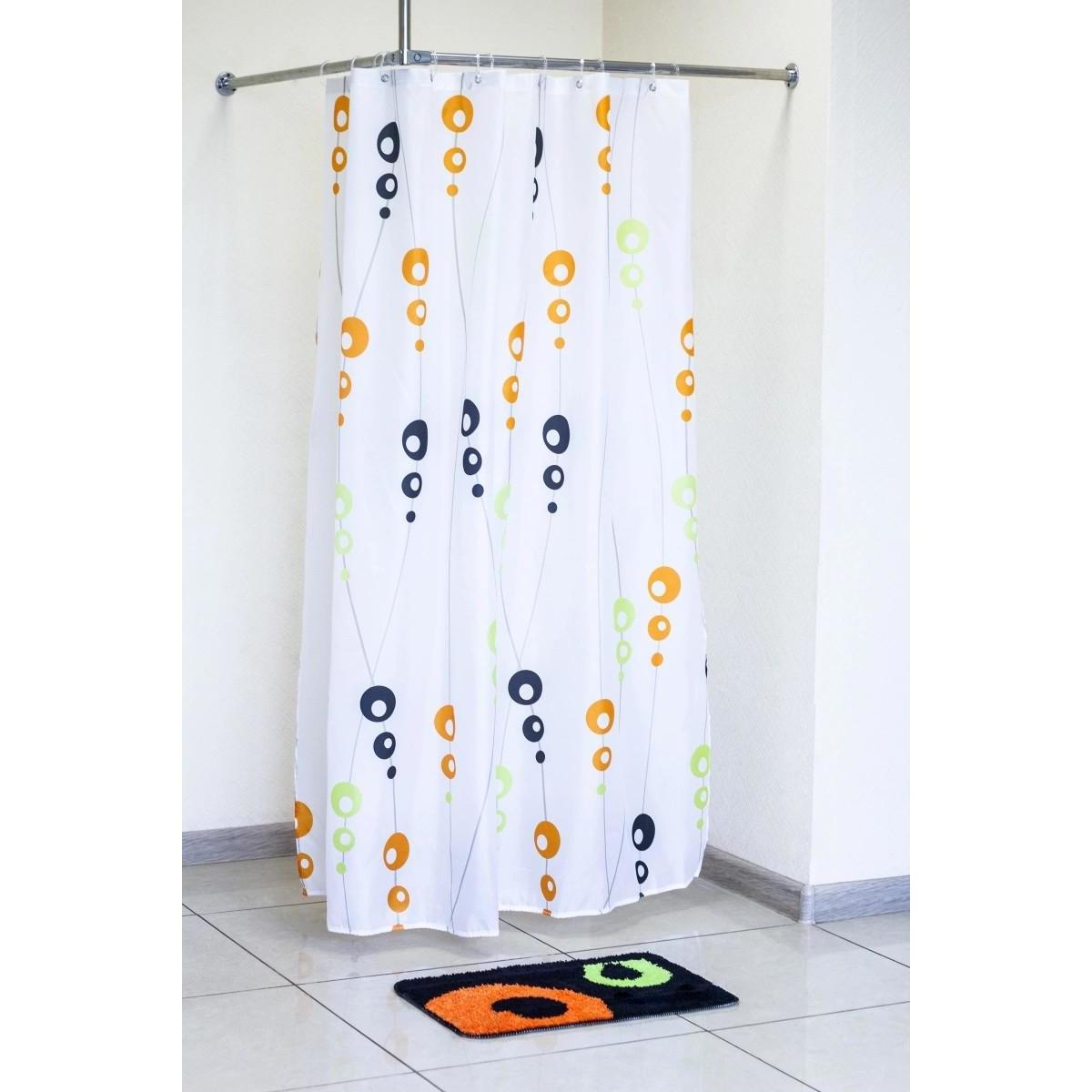Набор Шторка + Коврик для ванной My Space Molecule St18018040602 180х180 40х60