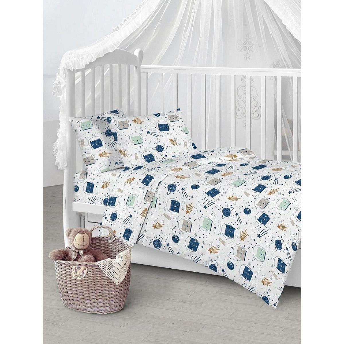 Детское постельное белье Текстильная лавка Космос бязь