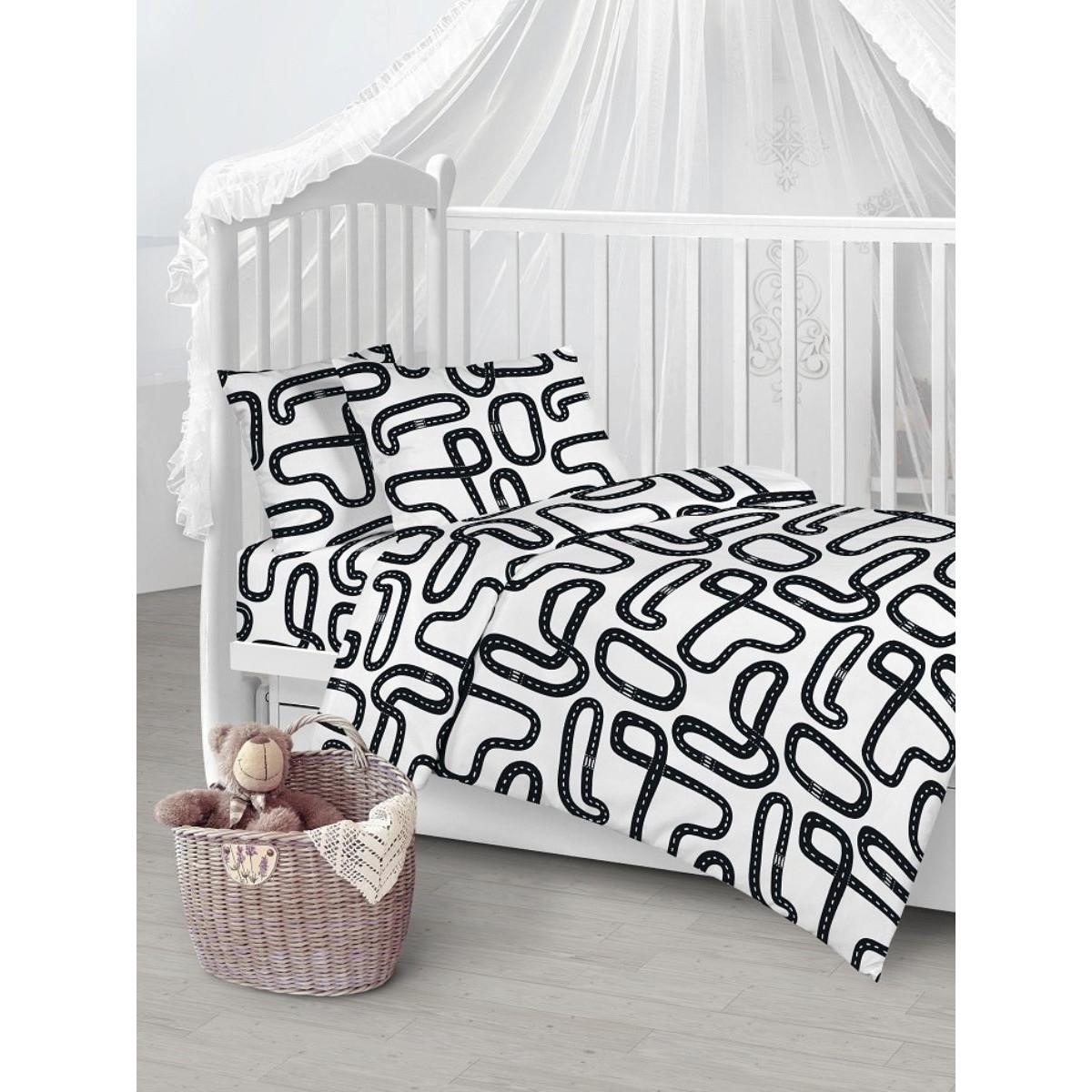 Детское постельное белье Текстильная лавка Дорога бязь