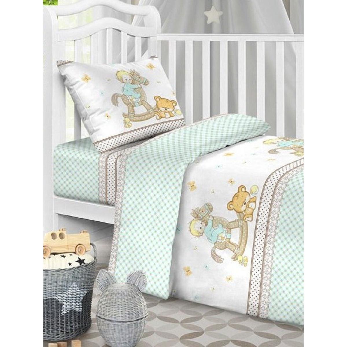 Детское постельное белье Текстильная лавка Лошадка бязь