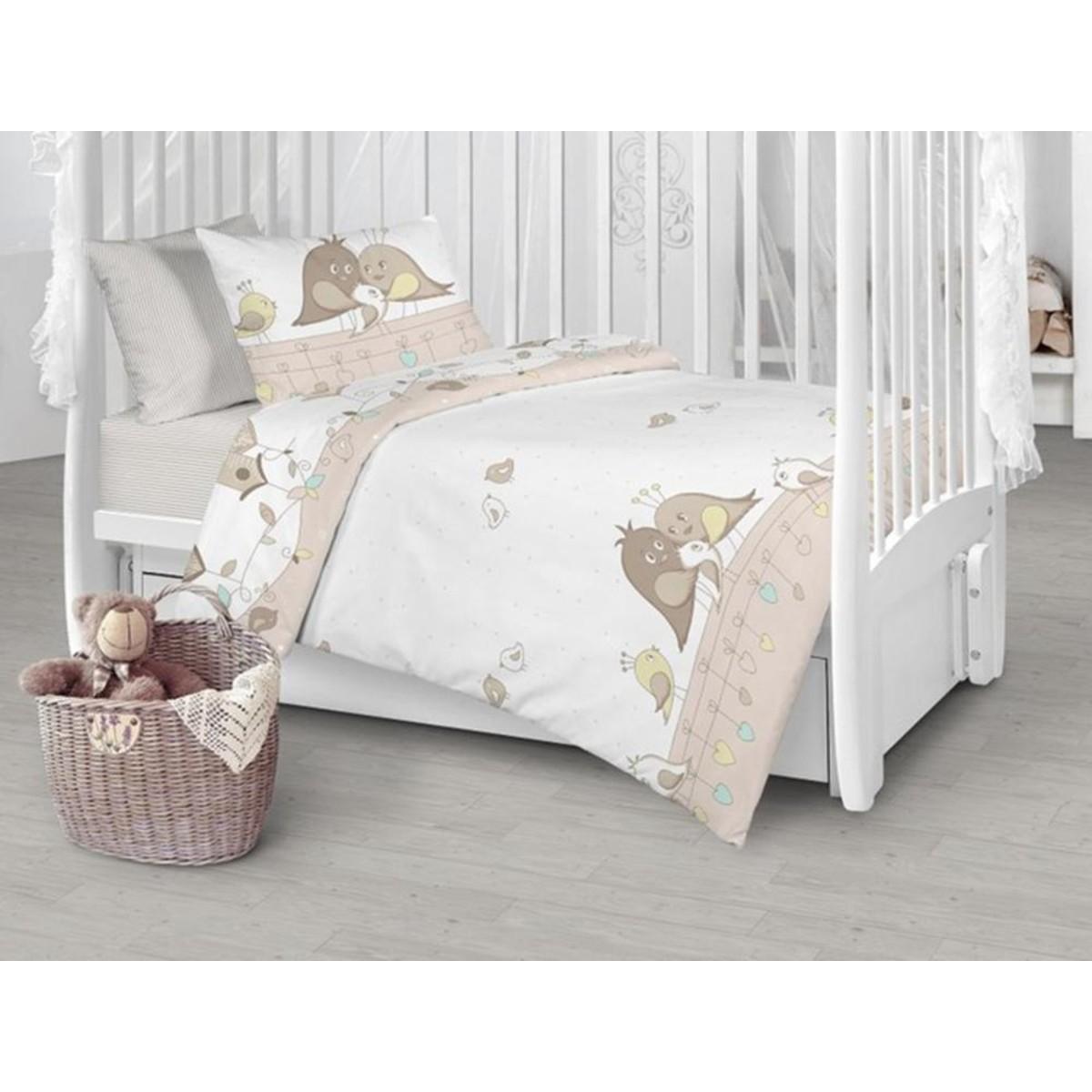 Детское постельное белье Текстильная лавка Птенчики бязь