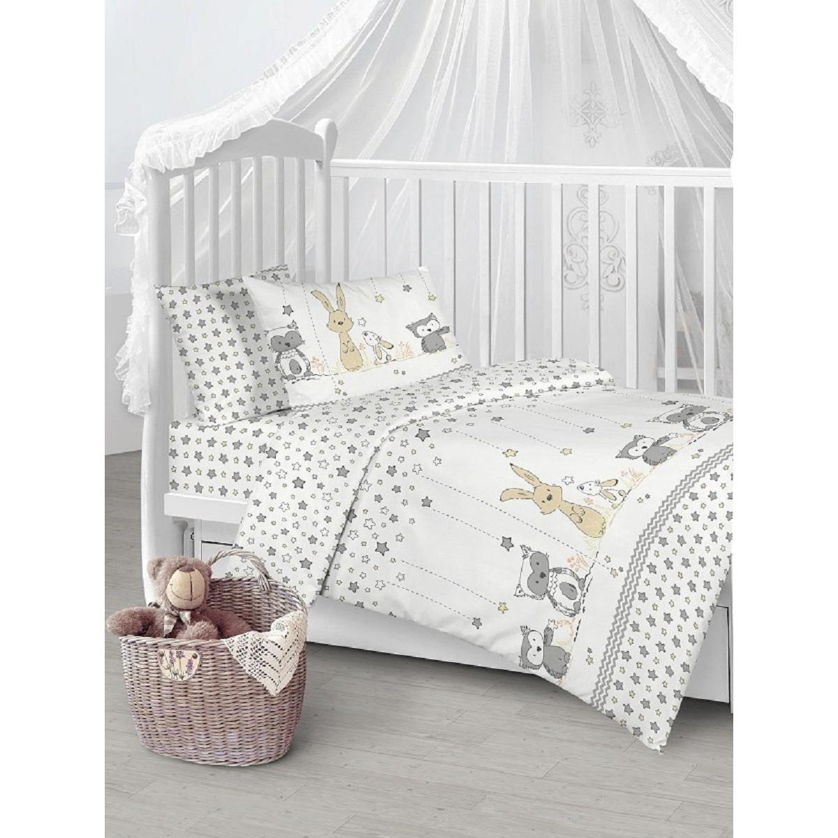 Детское постельное белье Текстильная лавка Лесные друзья бязь