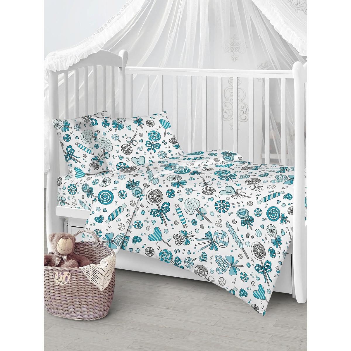 Детское постельное белье Текстильная лавка Карамельчки бязь