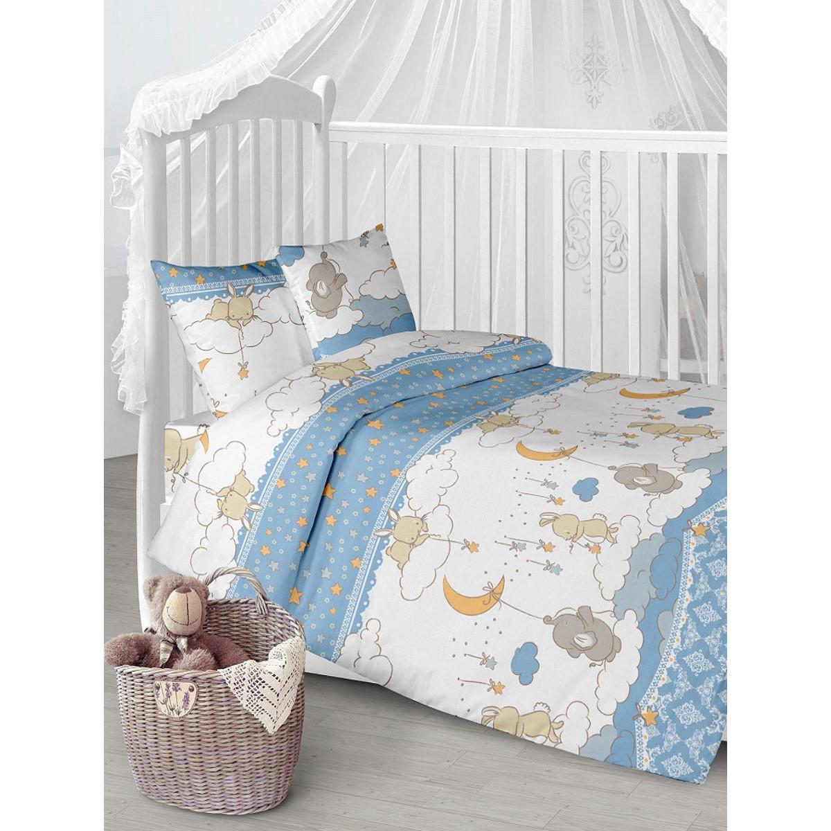 Детское постельное белье Текстильная лавка Луняшки бязь