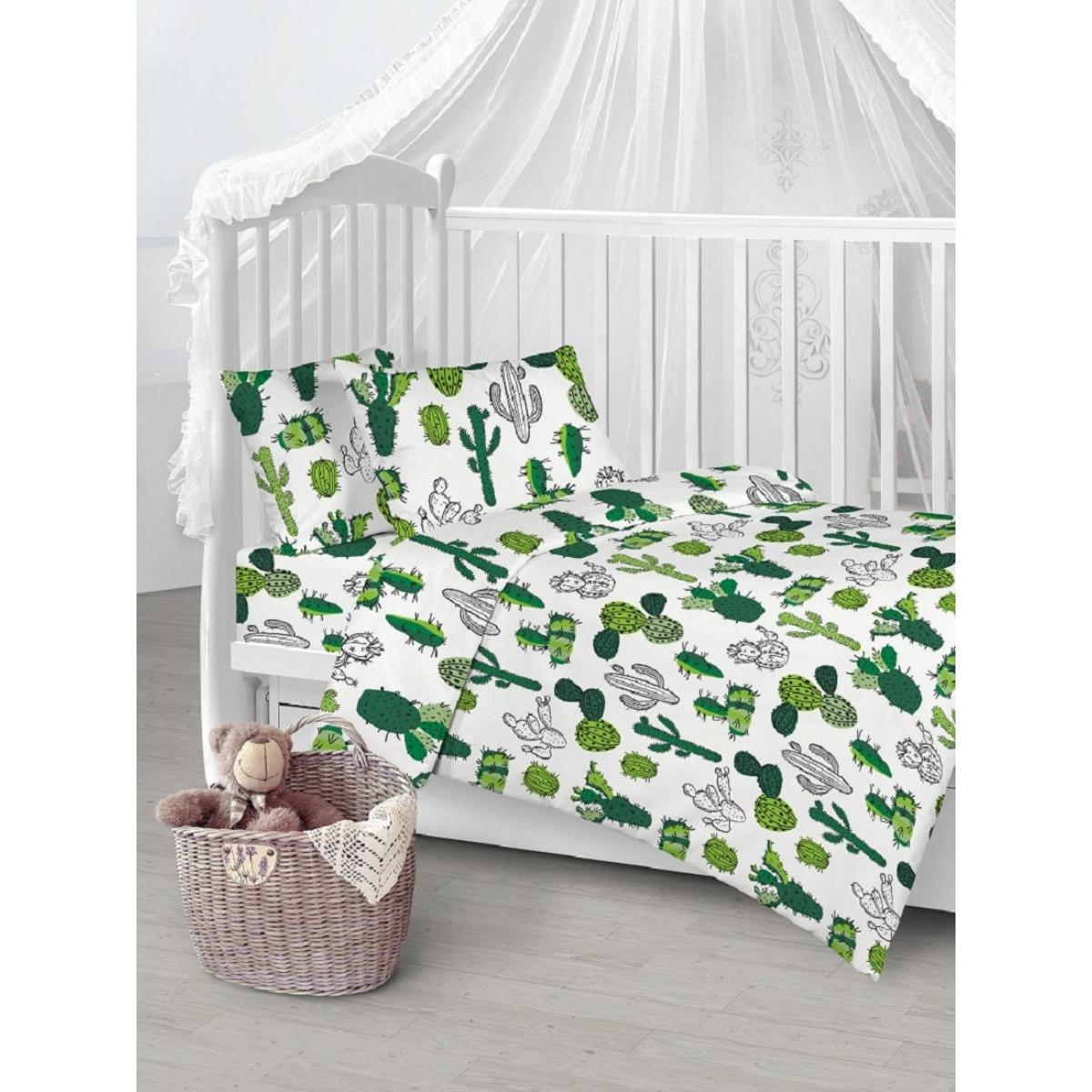 Детское постельное белье Текстильная лавка Кактусы бязь