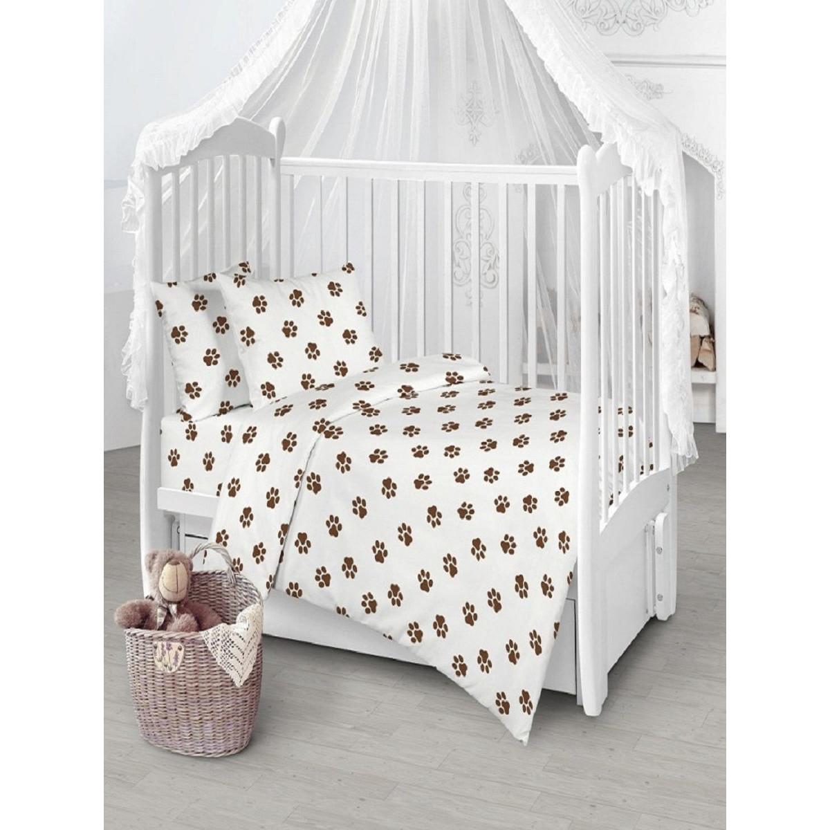 Детское постельное белье Текстильная лавка Лапки бязь