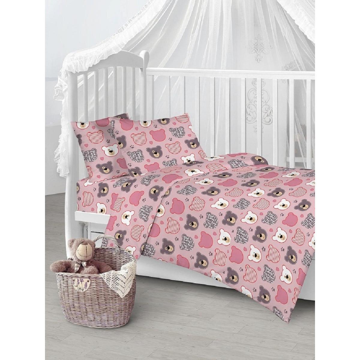 Детское постельное белье Текстильная лавка Мишки пэчворк бязь