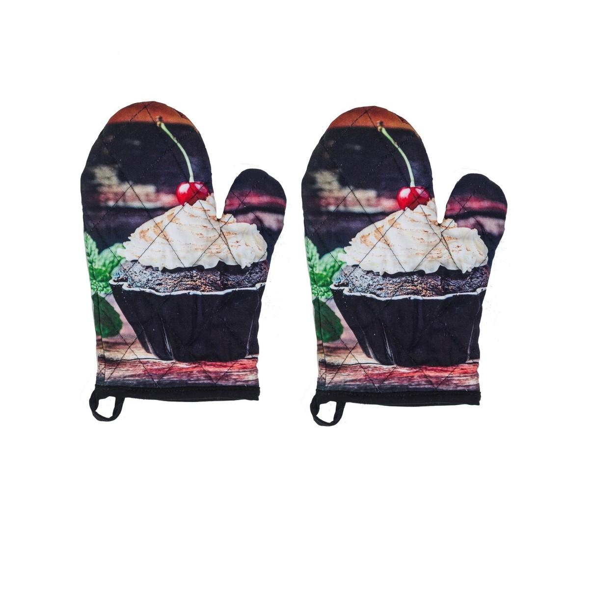 Набор прихваток-варежек Текстильная лавка Чоко Кекс 2шт