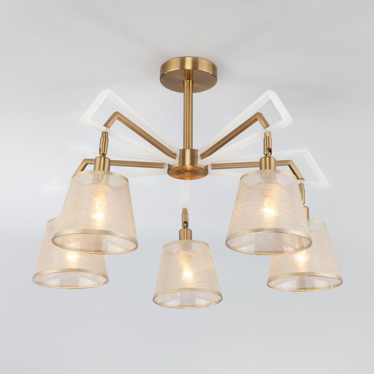 Светильник настенно-потолочный Eurosvet Alicante 60082/5 золотая бронза цвет золотистый