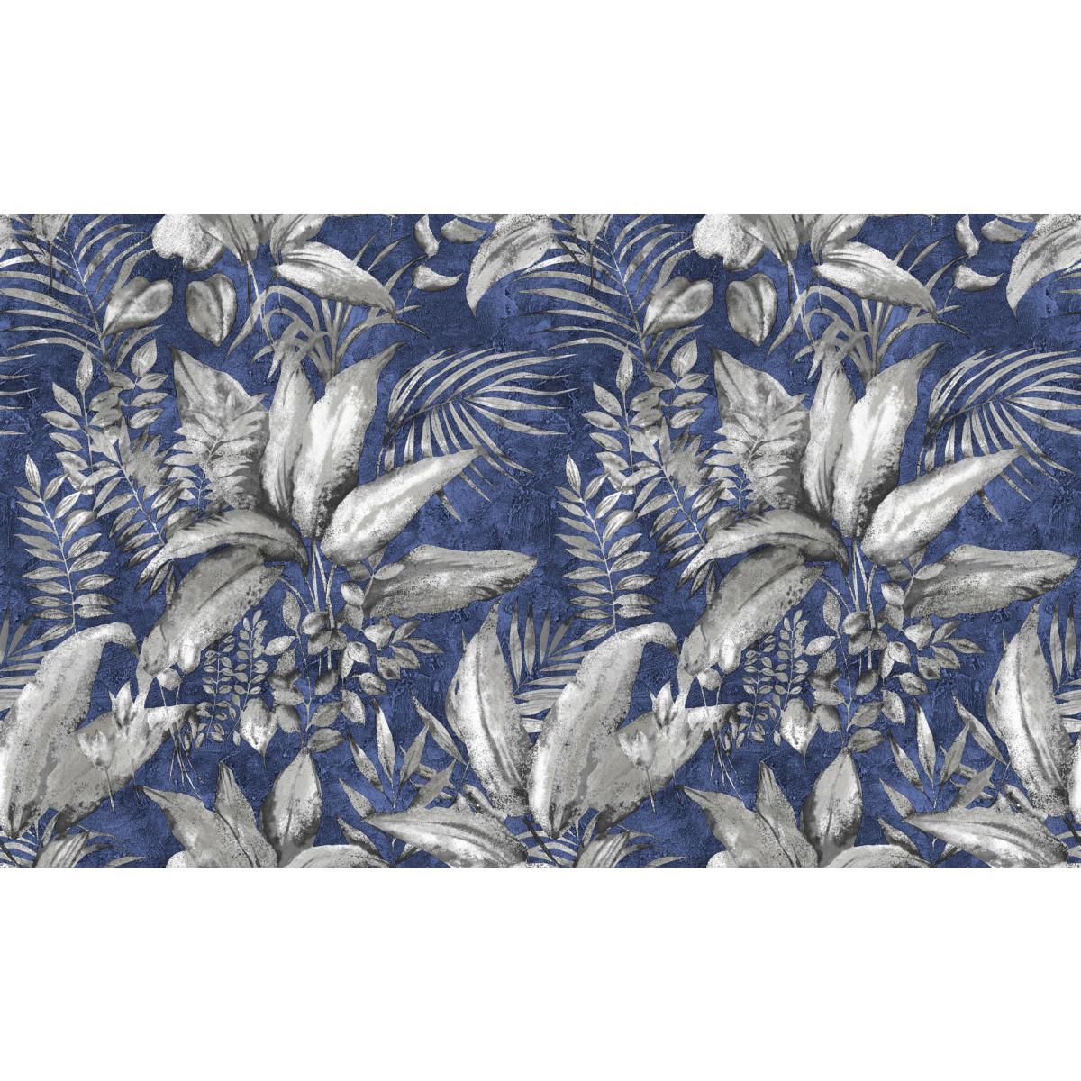 Обои флизелиновые Elysium Tropics синие 1.06 м E48205