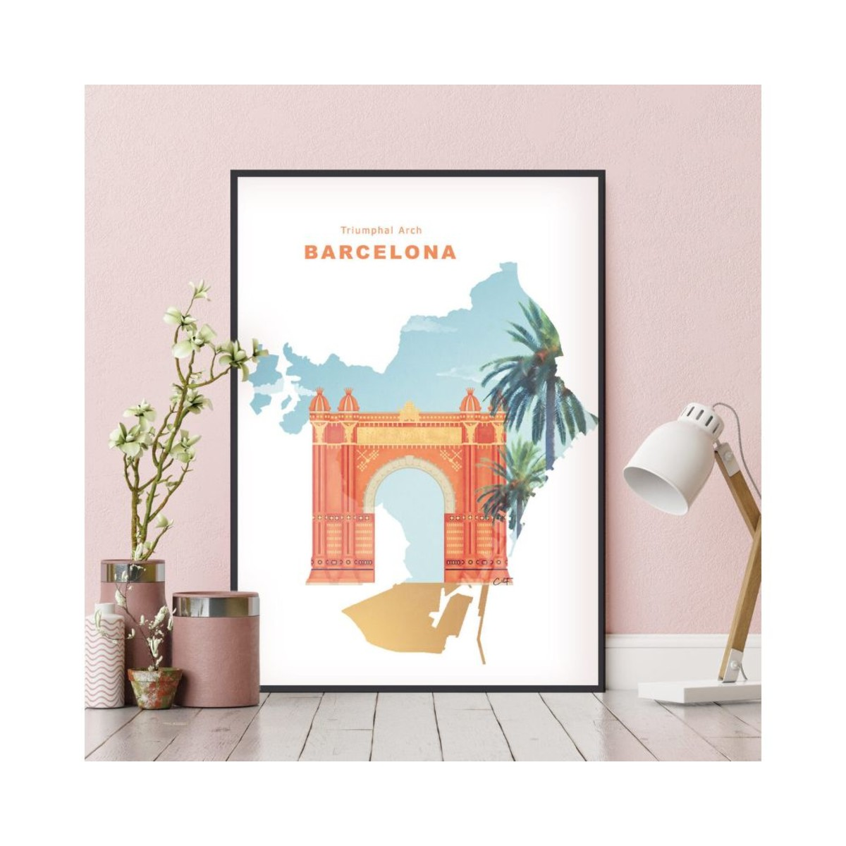 Постер в раме ПростоПостер Барселона 582394325685 40х50 см