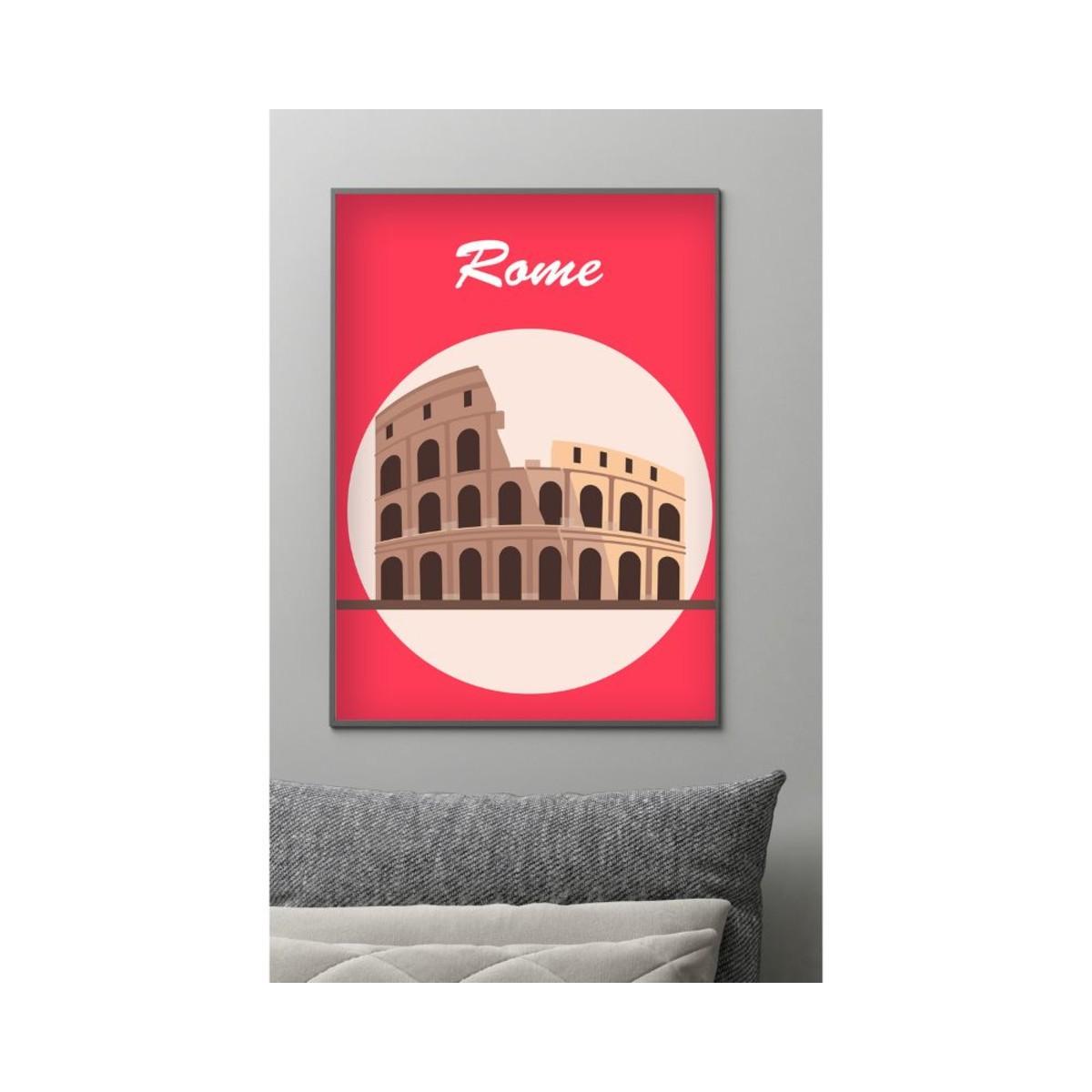 Постер в раме ПростоПостер Колизей 242324873874 50х70 см