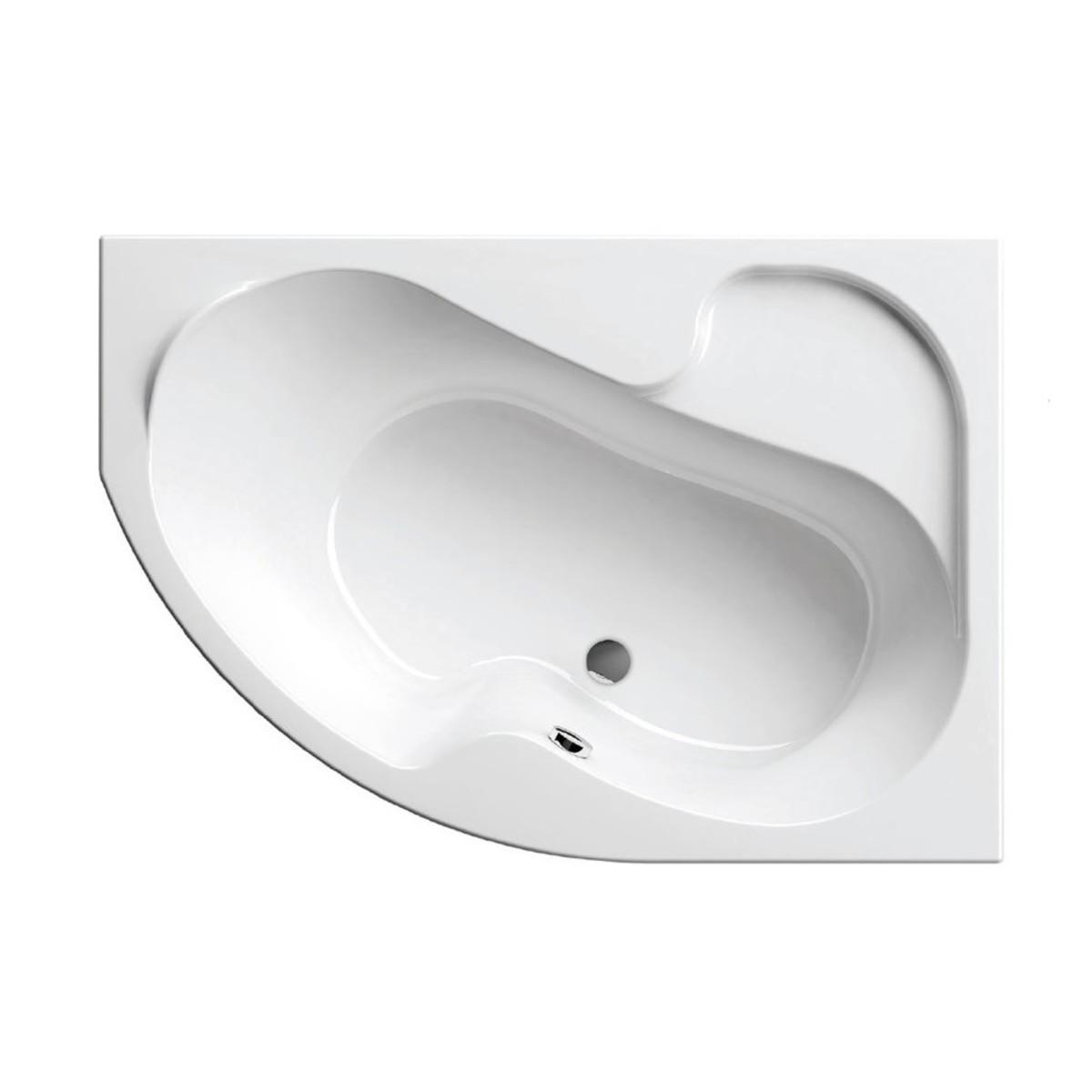 Акриловая ассиметричная ванна Ravak Rosa I 150x105 см правая