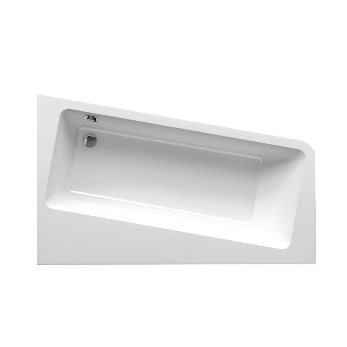 Акриловая ассиметричная ванна Ravak 10 градусов 170x100 см левая