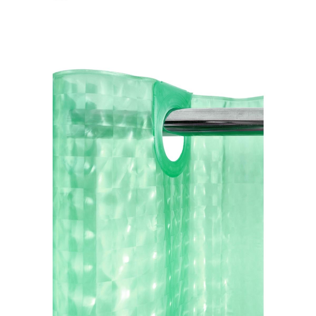 Штора для ванной Bath Plus 3D 200x180 зеленый