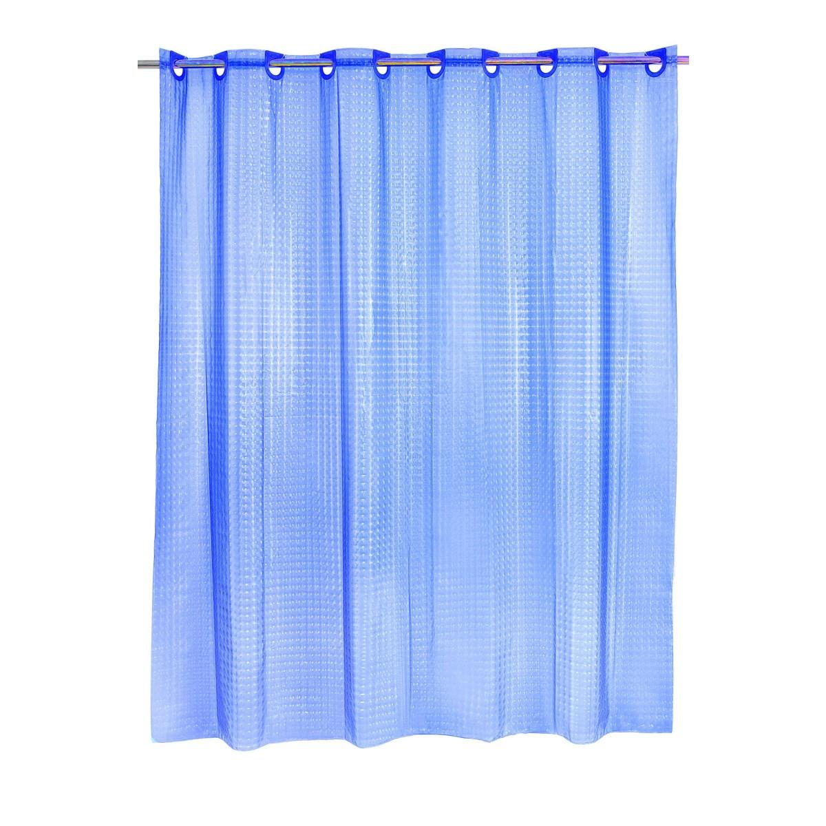 Штора для ванной Bath Plus 3D 200x180 синий