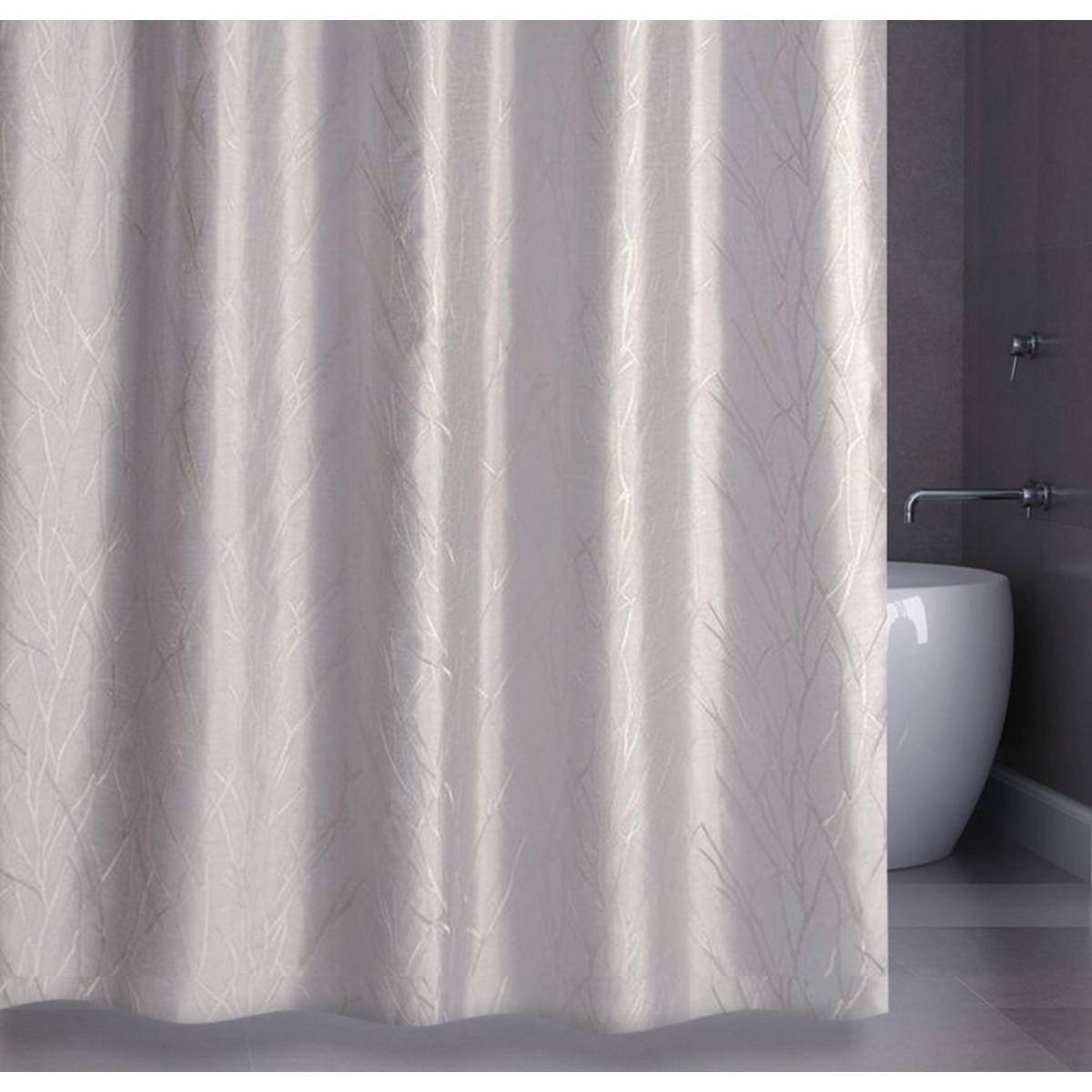 Штора для ванной Bath Plus Antic Grey 200x180 серый