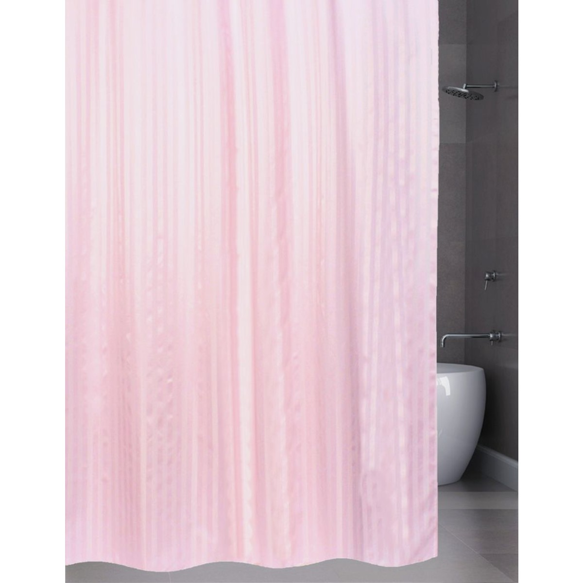 Штора для ванной Bath Plus BIG 240x200 розовый